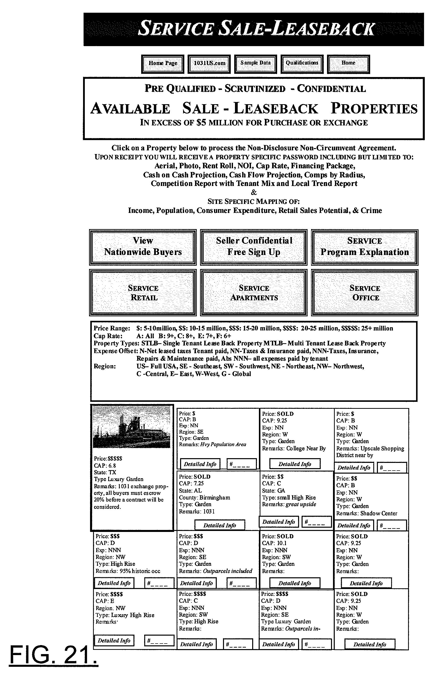 Patent US20070214073 - Facilitator arrangement, method and