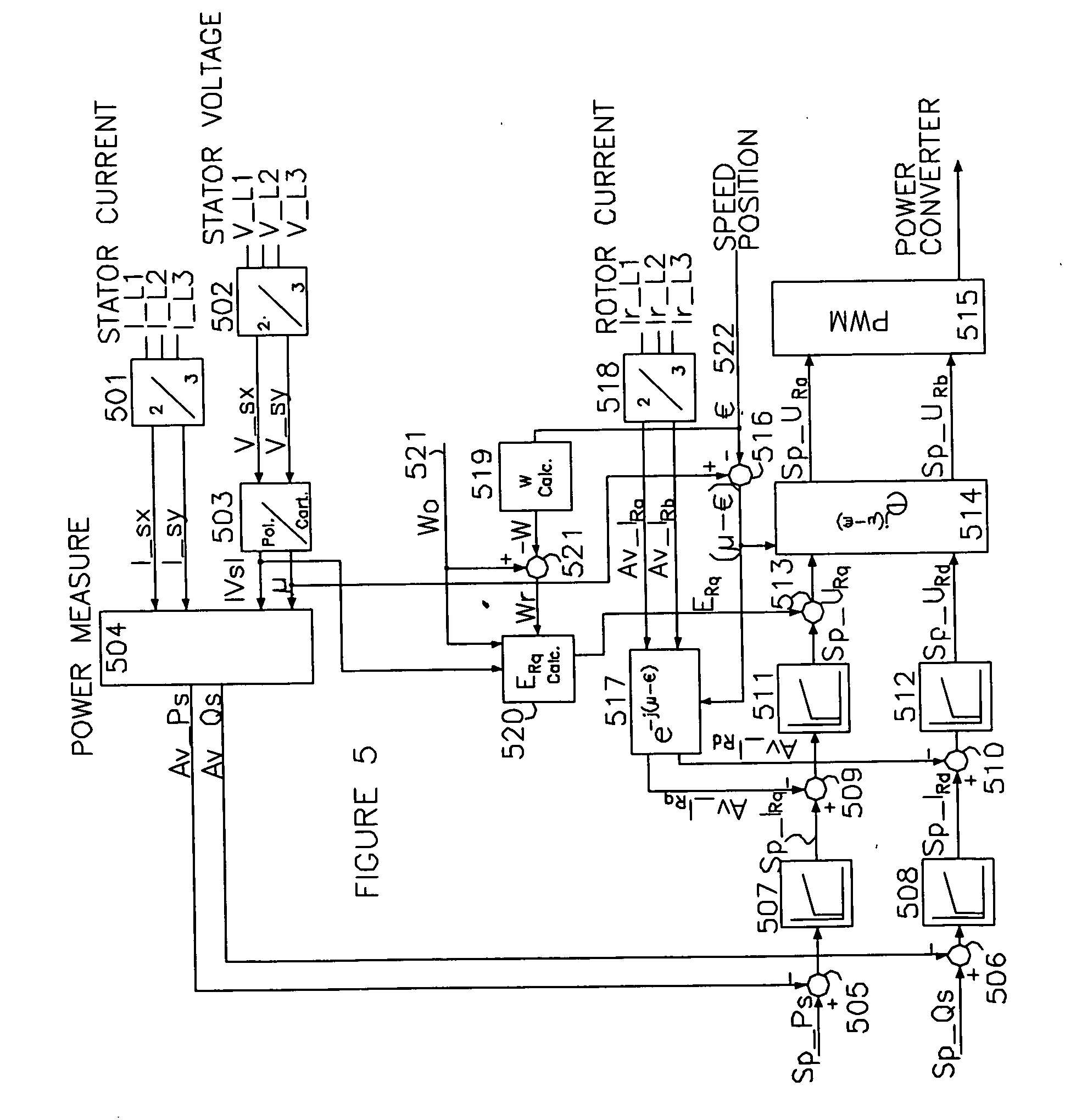 Patente Us20070216164 Variable Speed Wind Turbine Having An A Matrix On Generator Wiring Diagram Patent Drawing