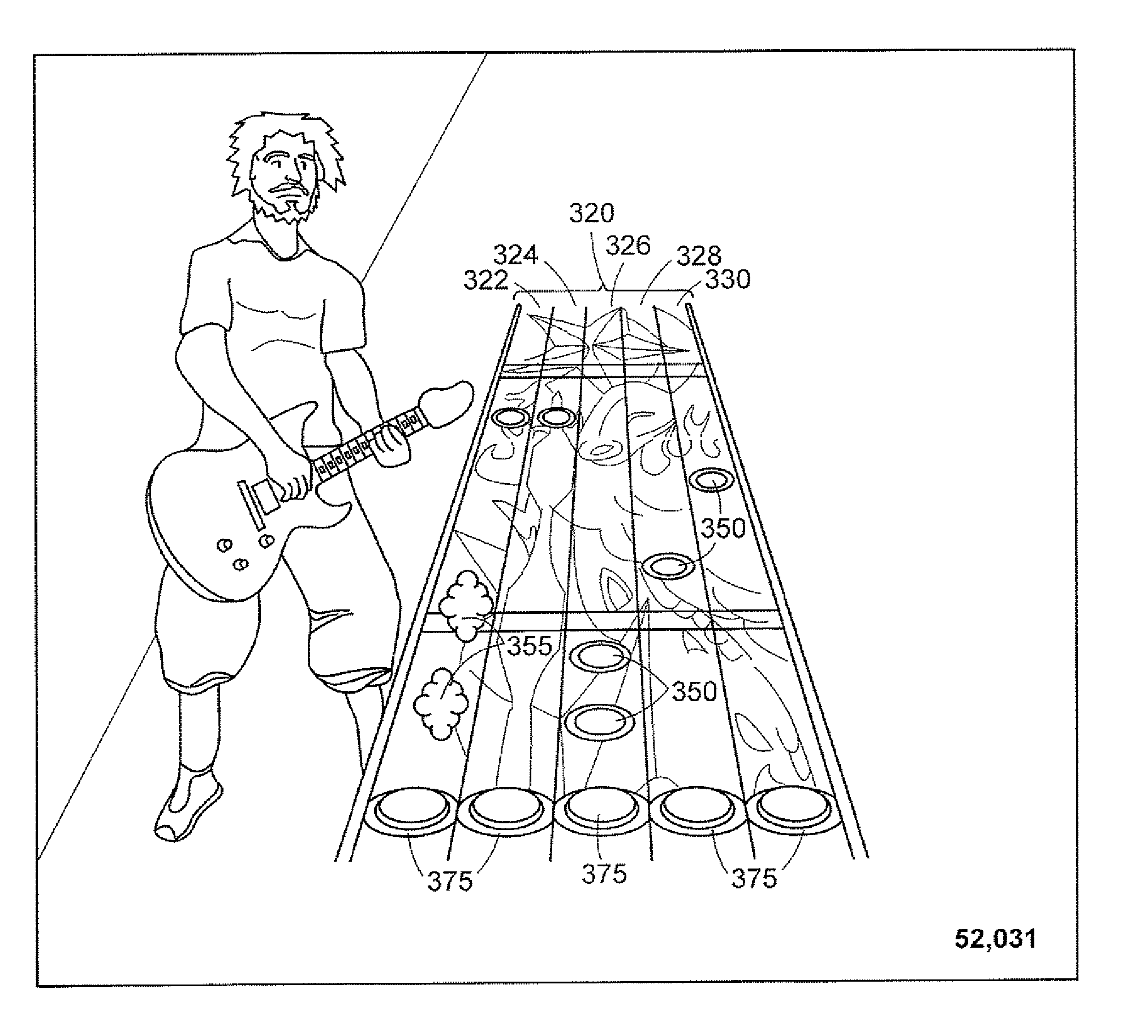Patent Us20070234885 Game Controller Simulating A Musical Gibson L6 S Wiring Diagram Drawing