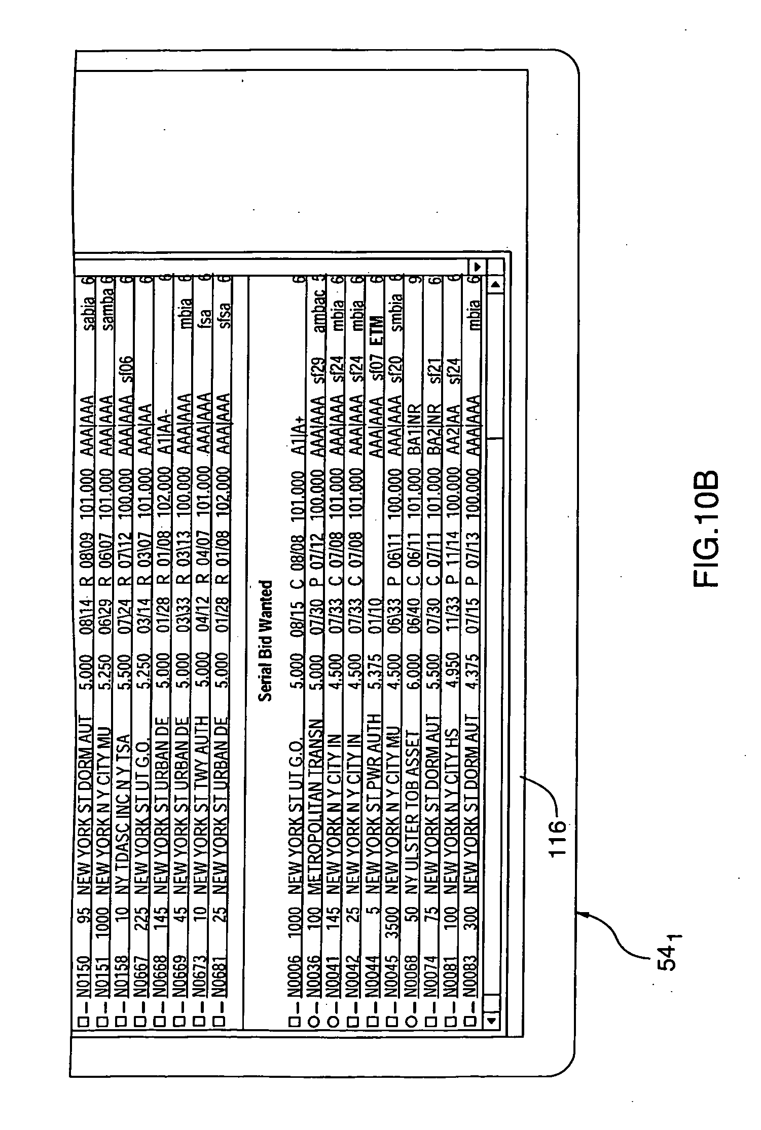 Patent US puter interface for trading