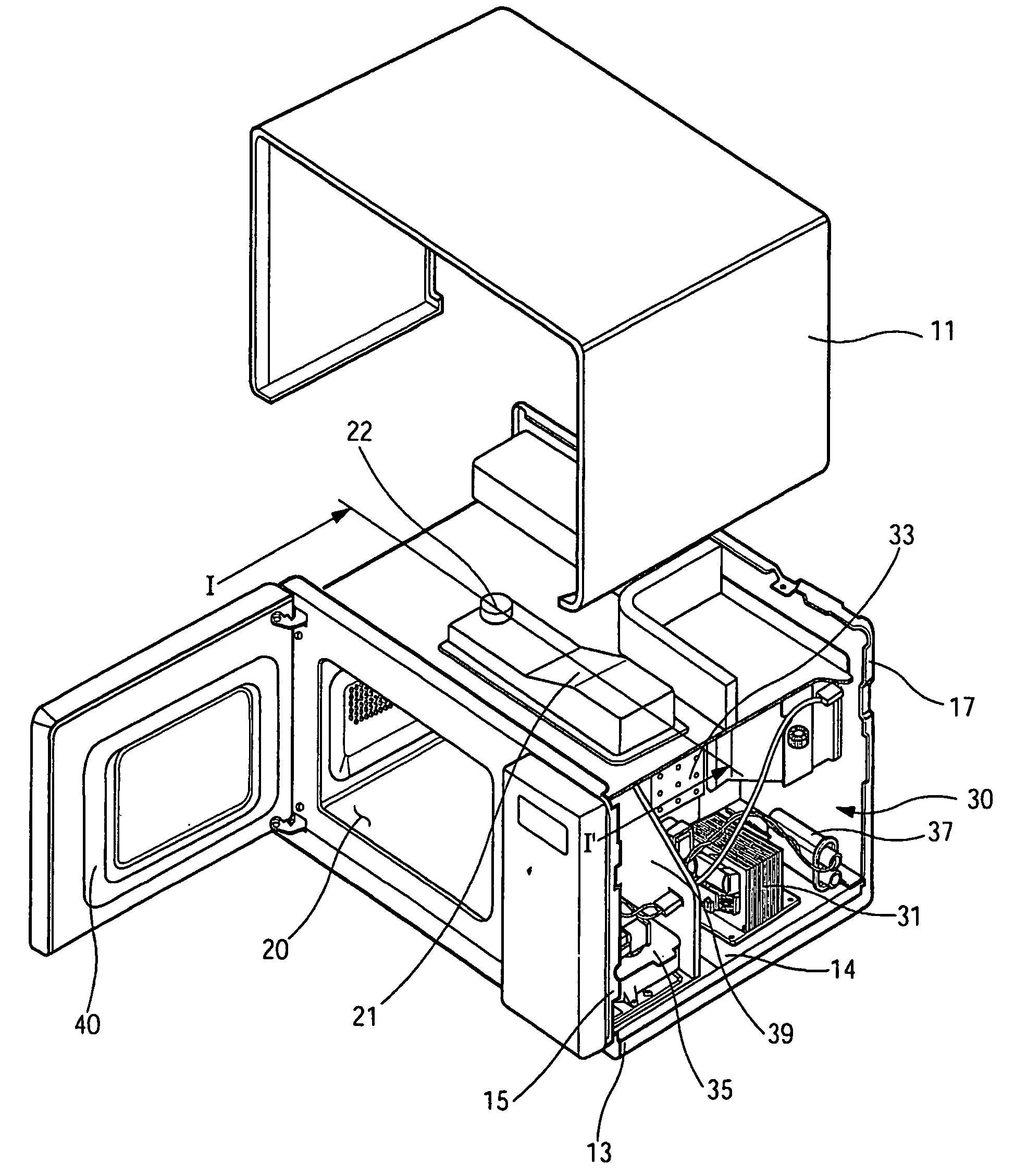 Microwave Oven Structure: Microwave Oven And Radiating