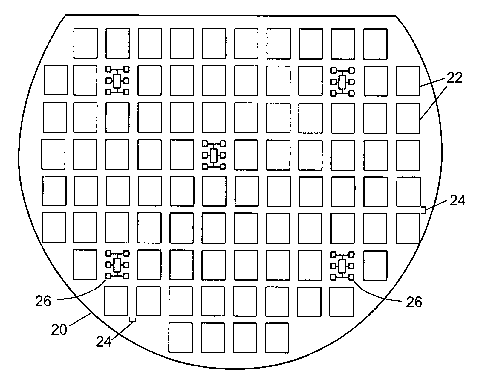 patent us20070285112 - on-wafer test structures