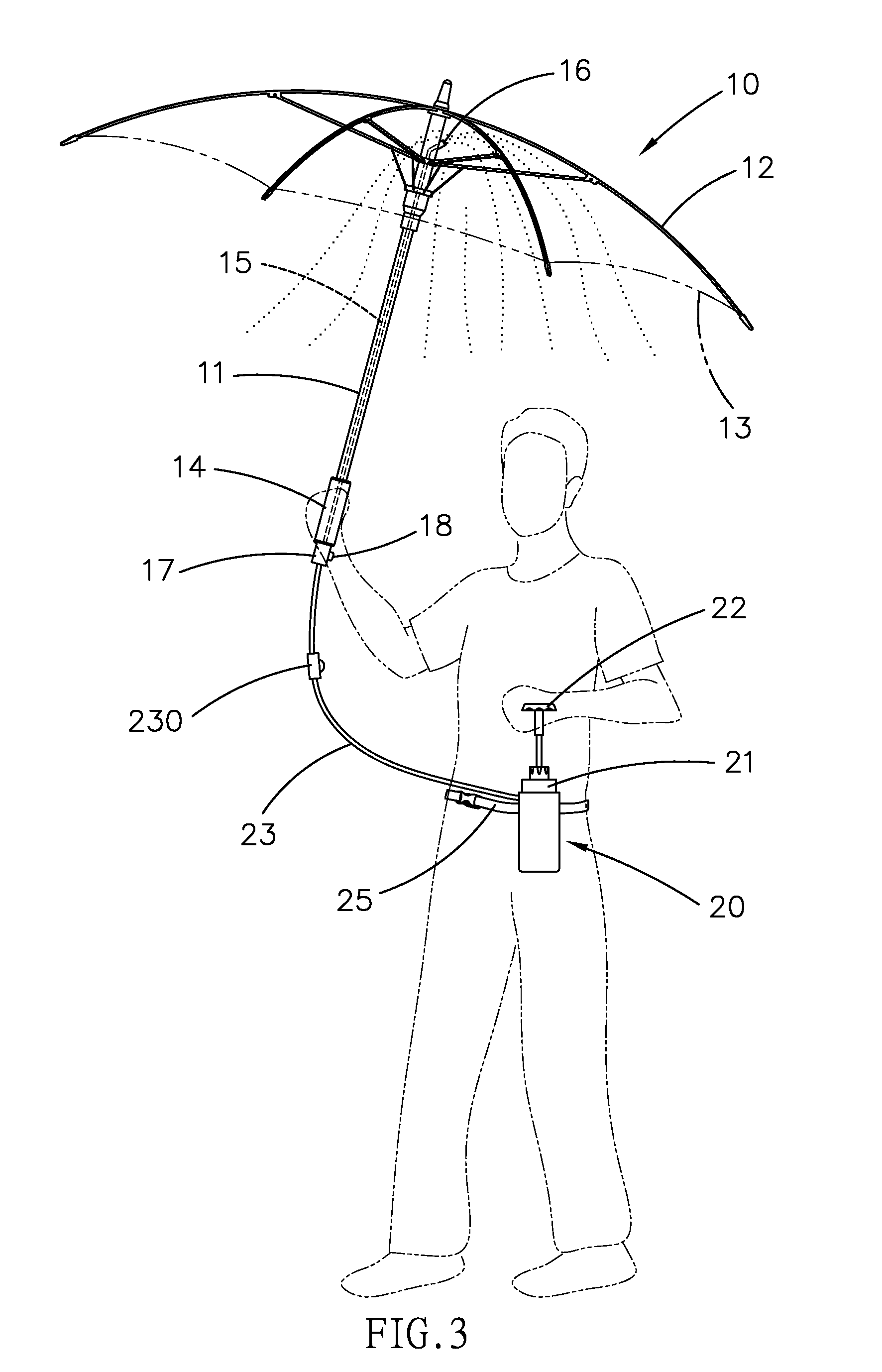 patent us20080048051 misting umberlla patents DIY Portable Water Mister patent drawing