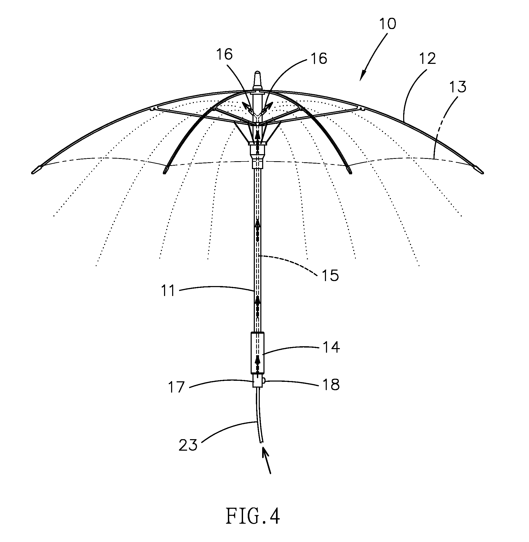 patent us20080048051 misting umberlla patents Commercial Patio Mister patent drawing
