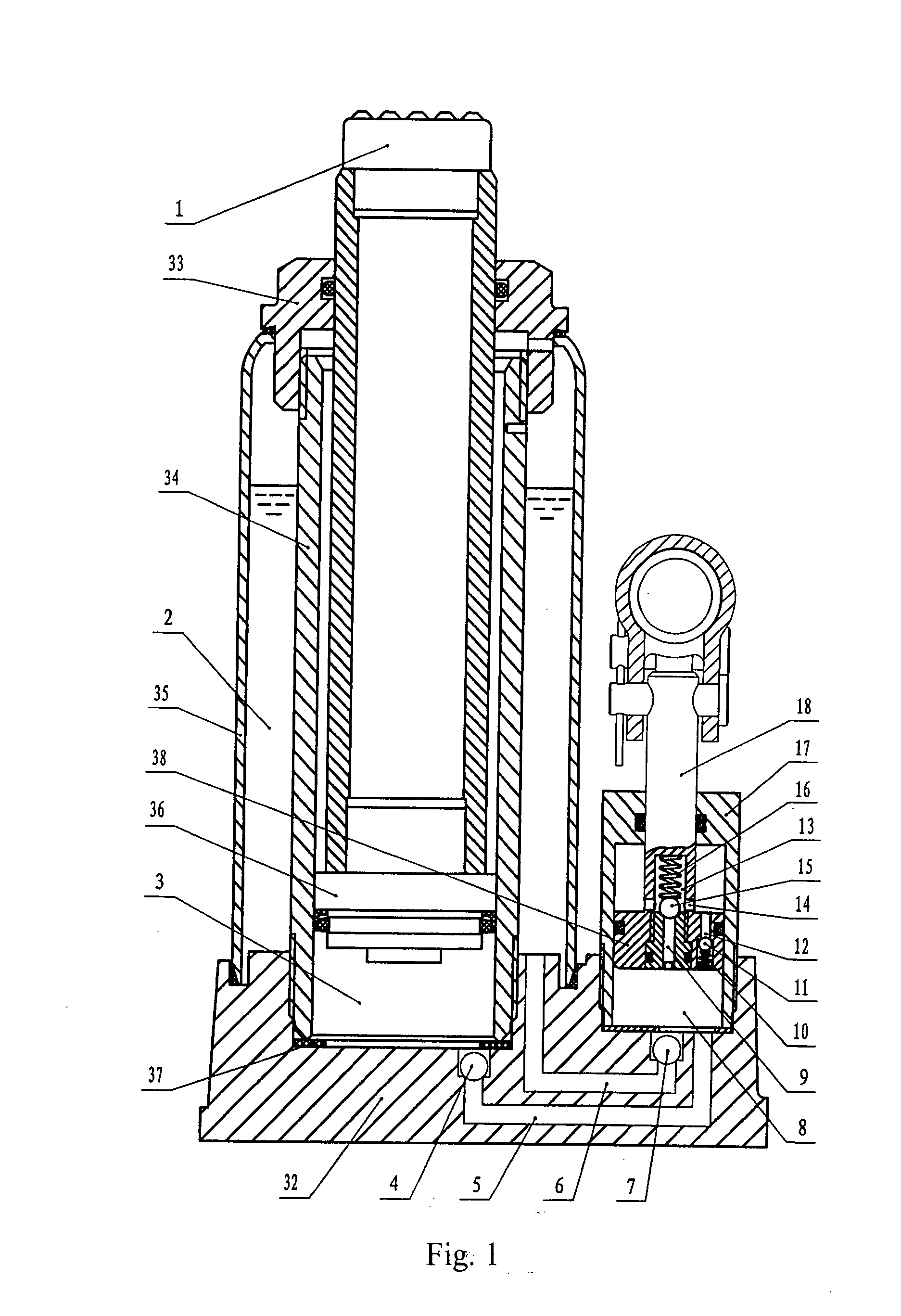 Patent Us20080048159 Double Speed Hydraulic Bottle Jack