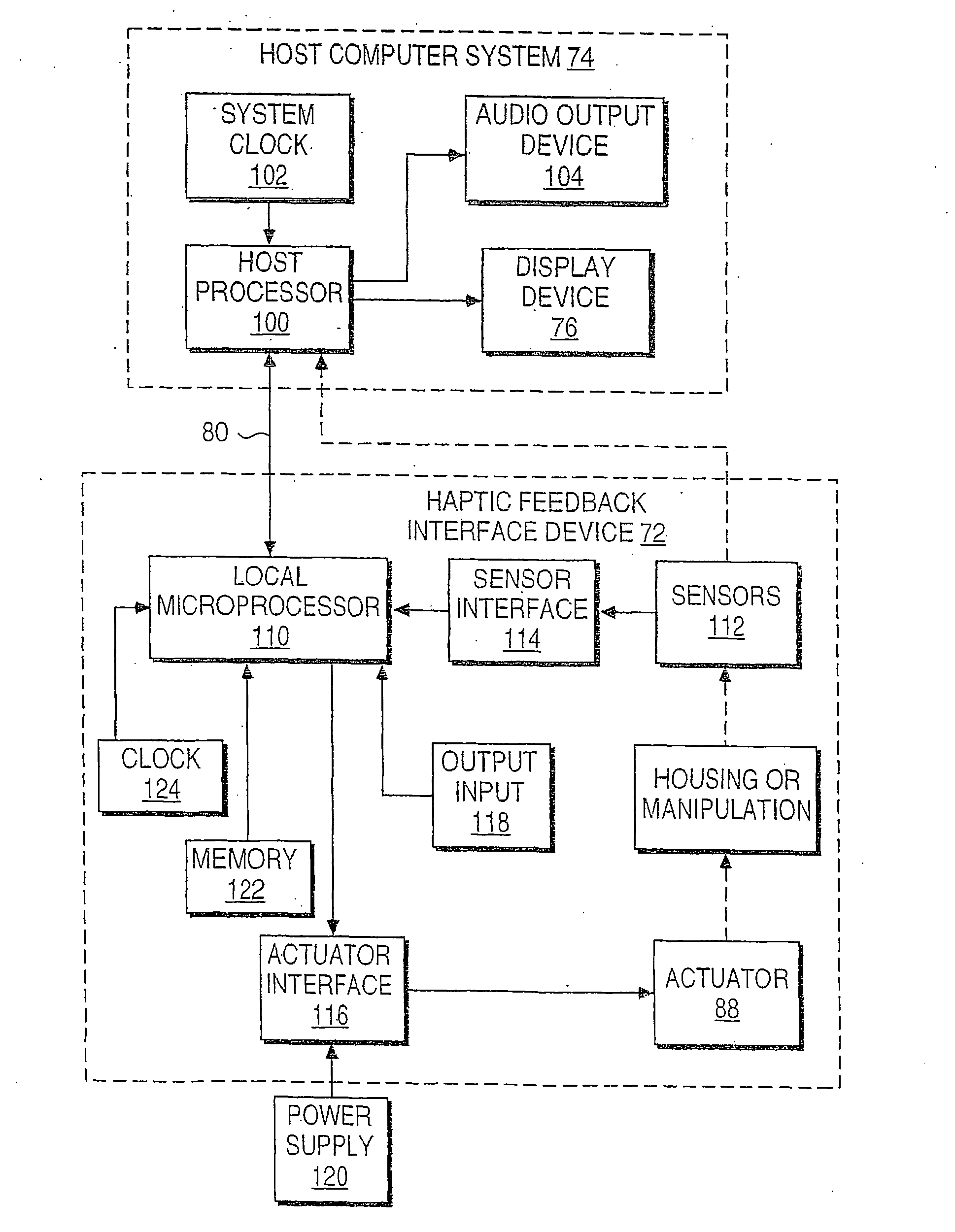 Patent Us20080062143 Haptic Interface For Touch Screen Embodiments Block Diagram Manipulation Drawing