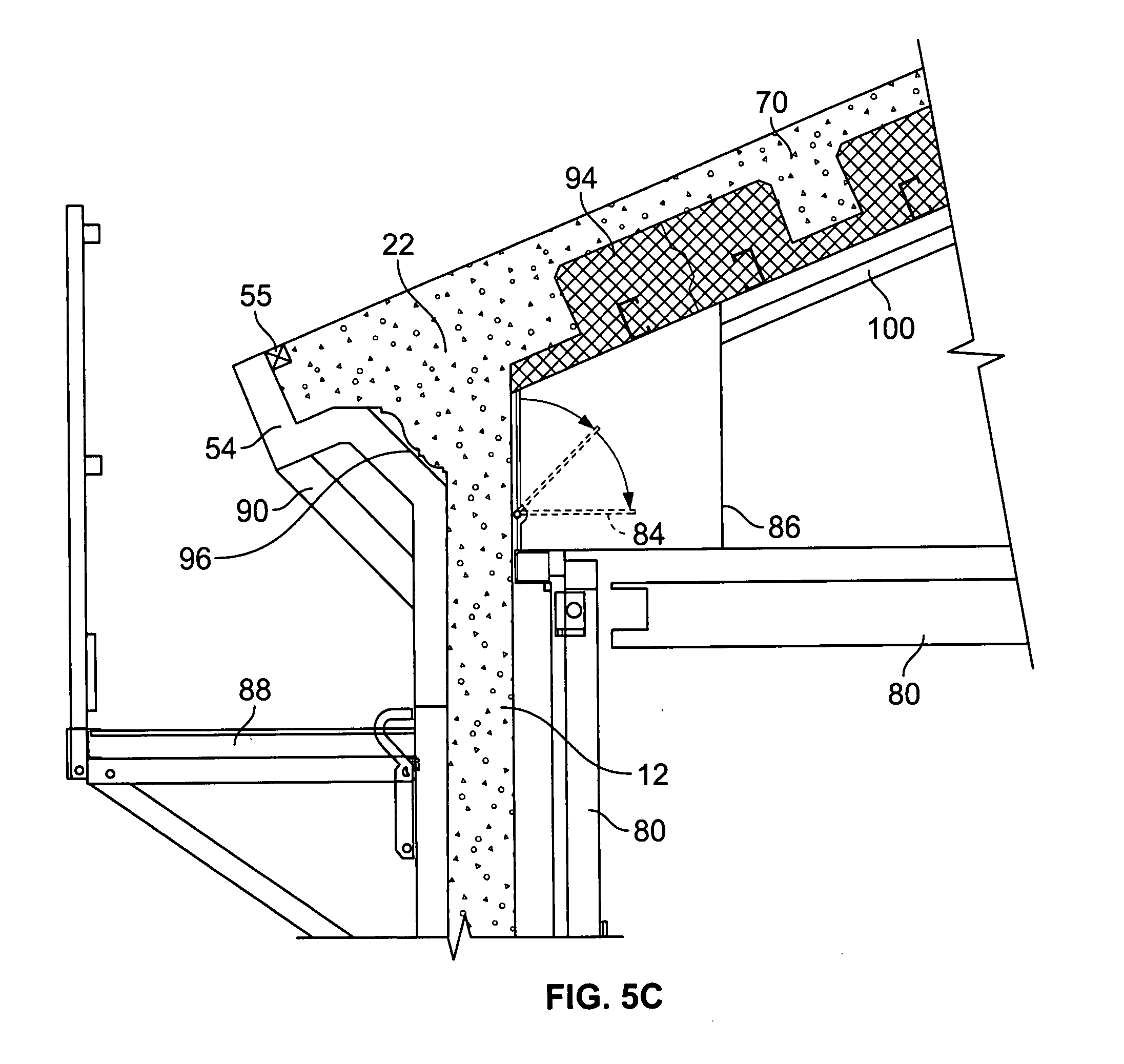 Patent Us20080066395 Sloped Concrete Roof And Eave