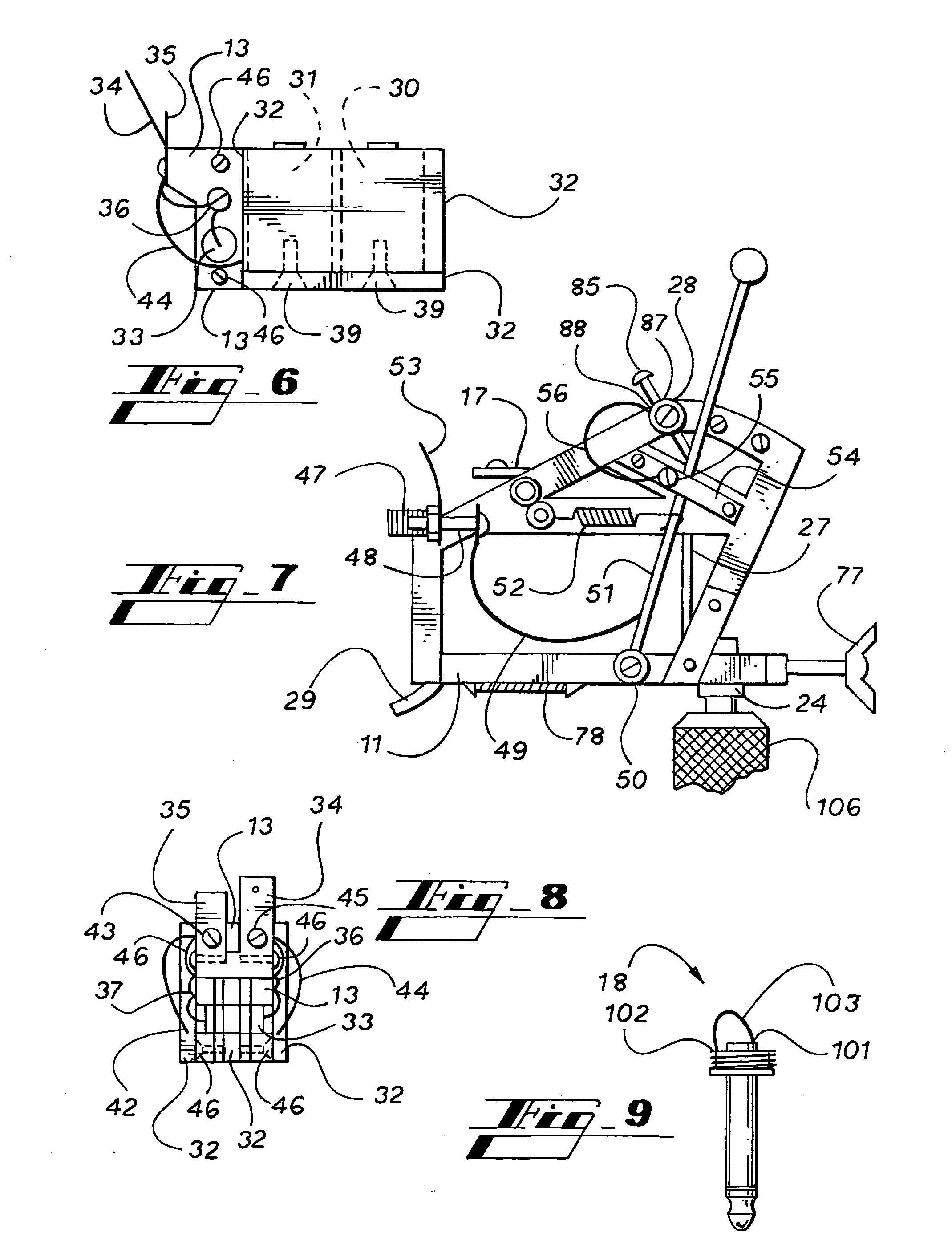 patent us20080078271 - tattoo machine