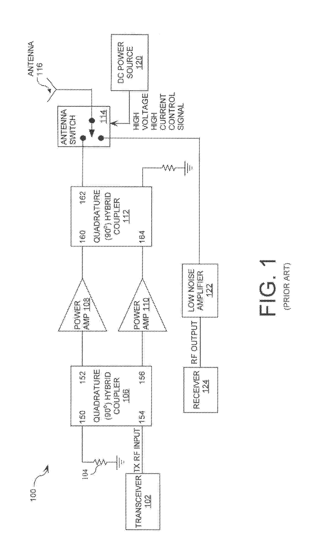 patent us20080132180 - lossless transmit path antenna switch circuit
