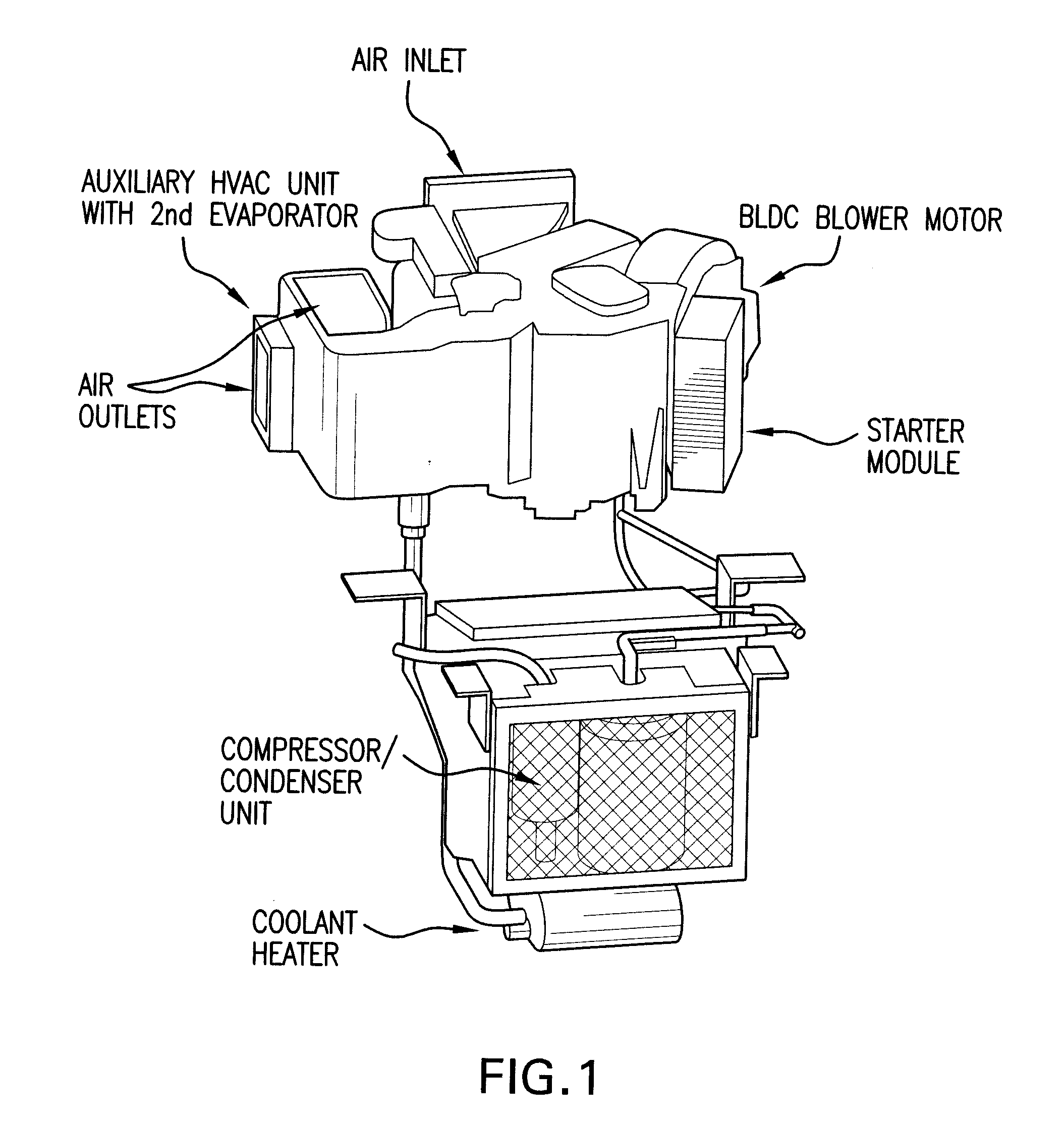 patent us20080134715 - vehicle hvac control system ... hvac controls drawing images #6