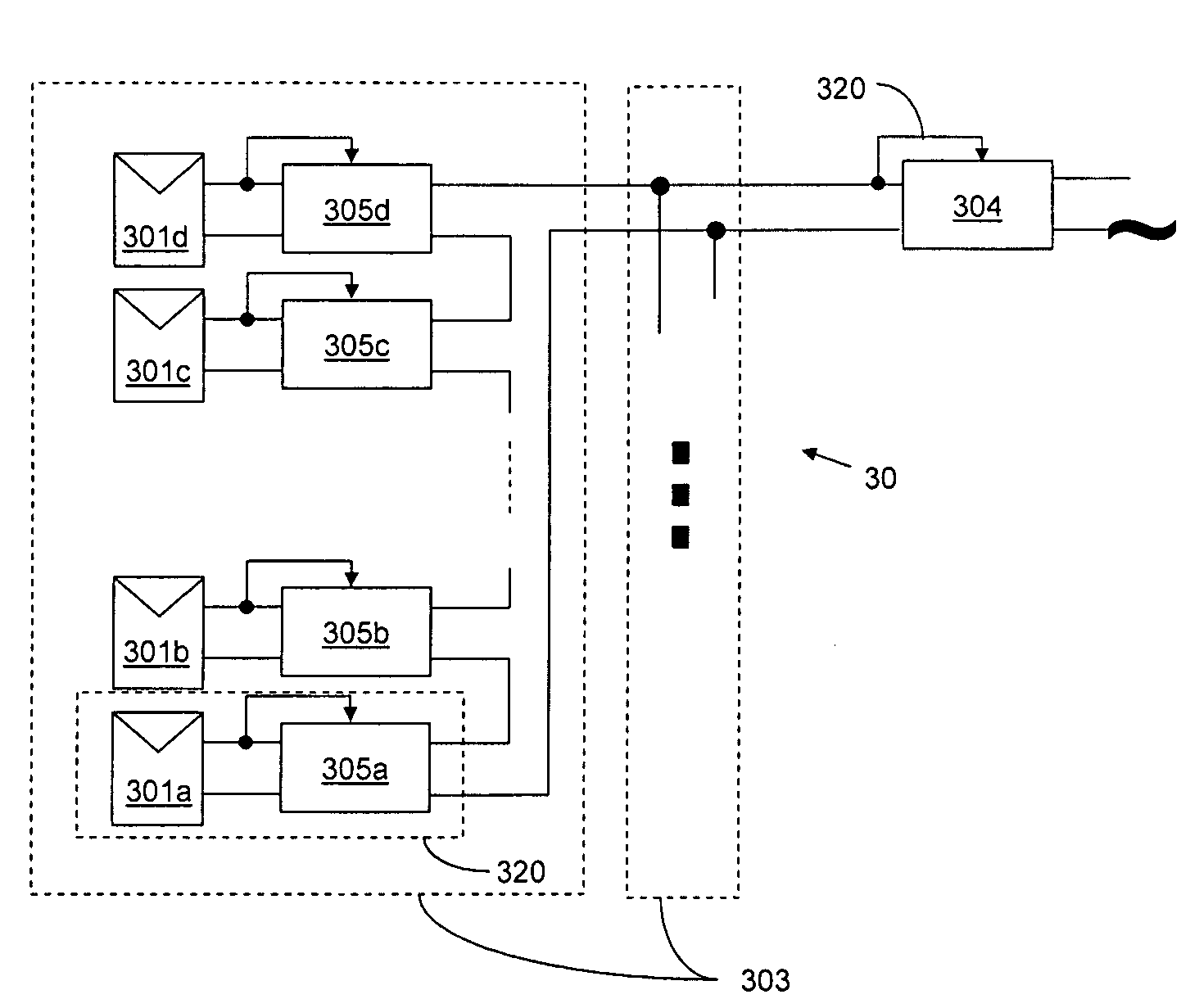 Patent Us20080143188 Distributed Power Harvesting Systems Using Dc Transformerless Supply Fet Drawing