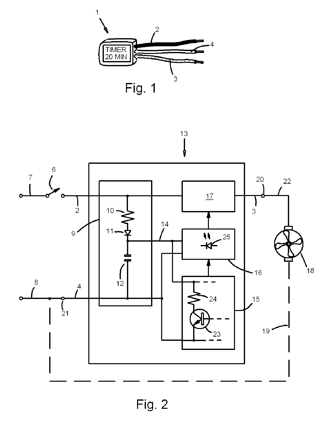 Bathroom Fan Diagram Great Design Of Wiring Extractor Patent Us20080143191 Electronic Timer Module For Exhaust Wire