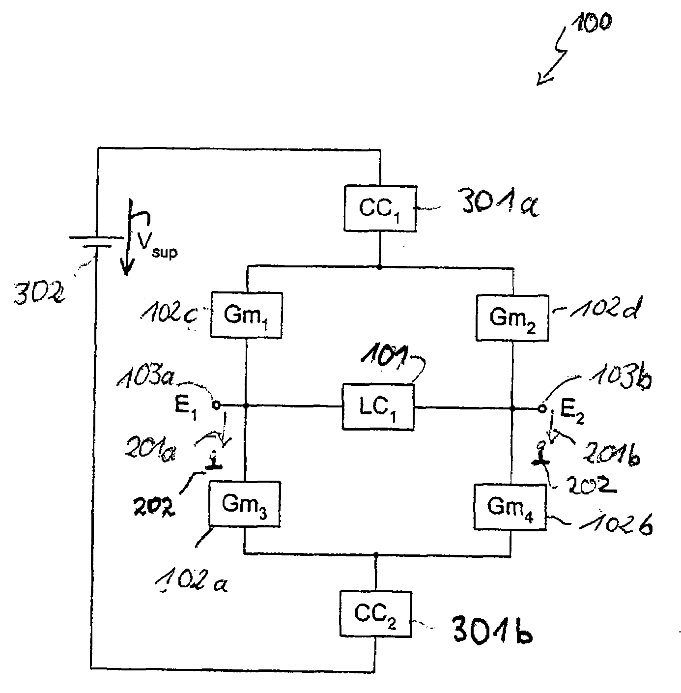 Patent Us20080157891 Oscillator With Darlington Nodes Google Patents Pair Circuit Drawing