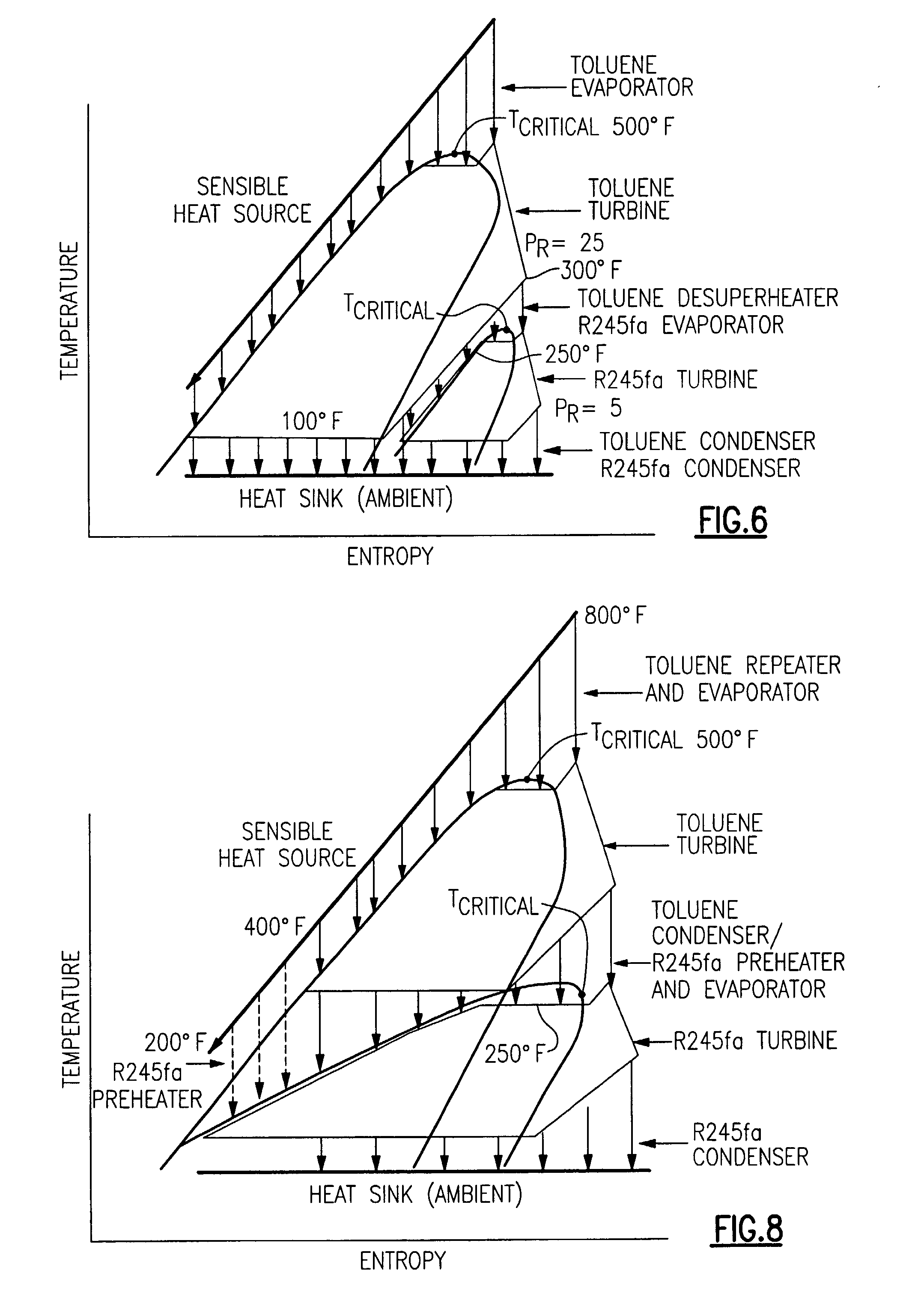 Patent Us20080168772 Cascaded Organic Rankine Cycles For Waste Geothermal Power Plant Ts Diagram Drawing