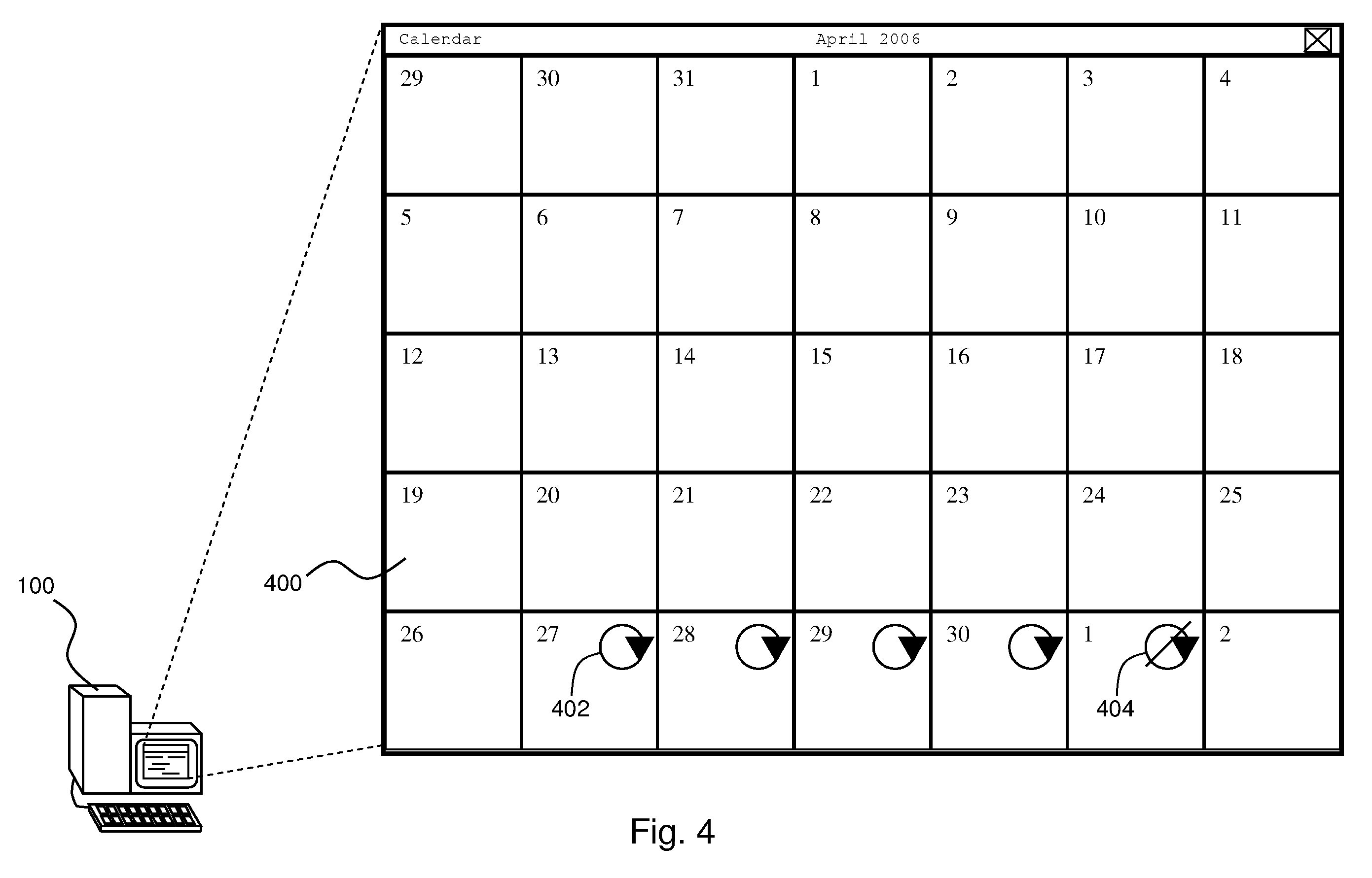 Calendar Repeat : Patent us  automatic reminder for repeating