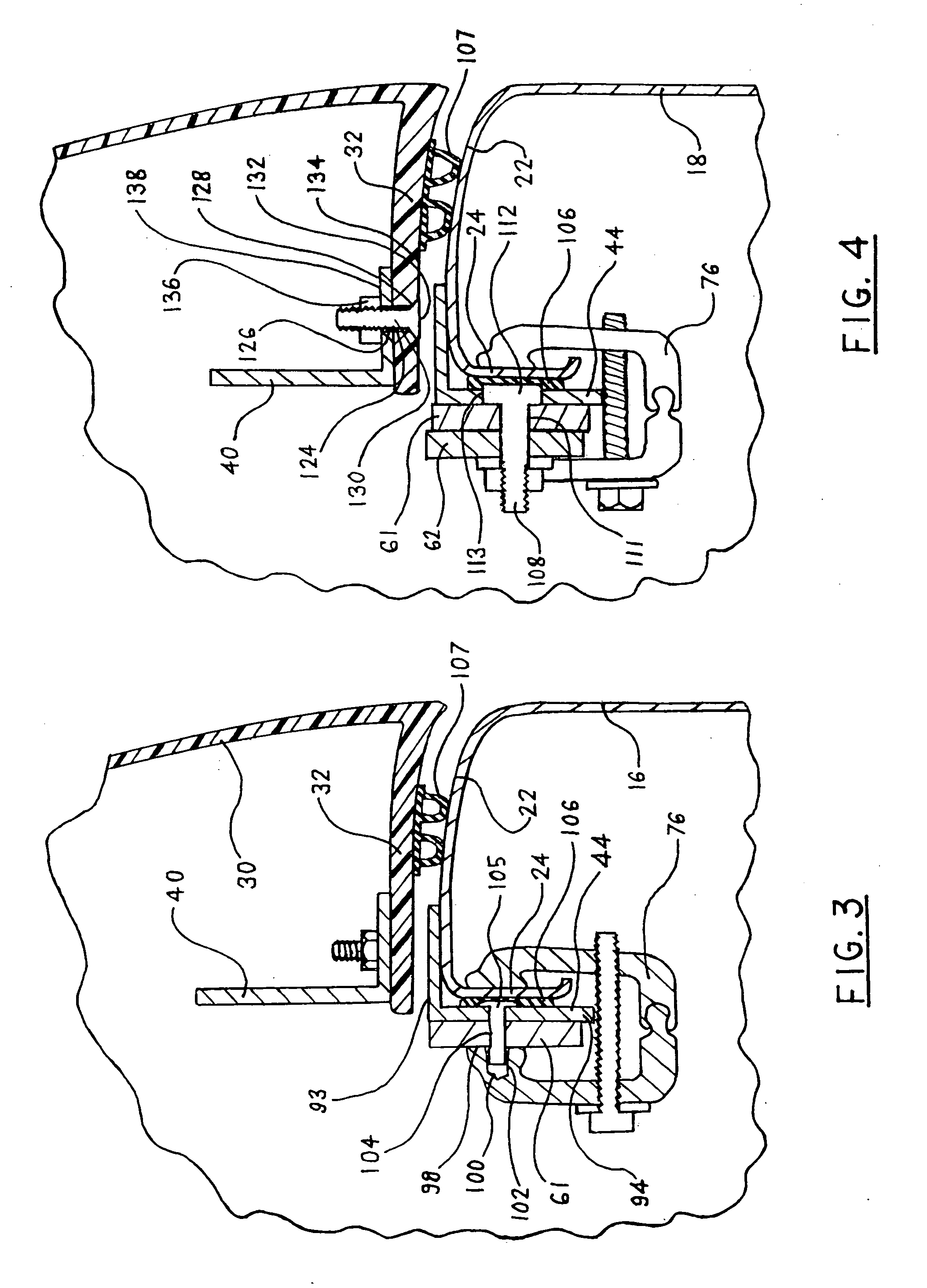 Patent Us20080203756 4 Bar Hinge System For Cab High Load Bed Leer Truck Cap Wiring Diagram Drawing