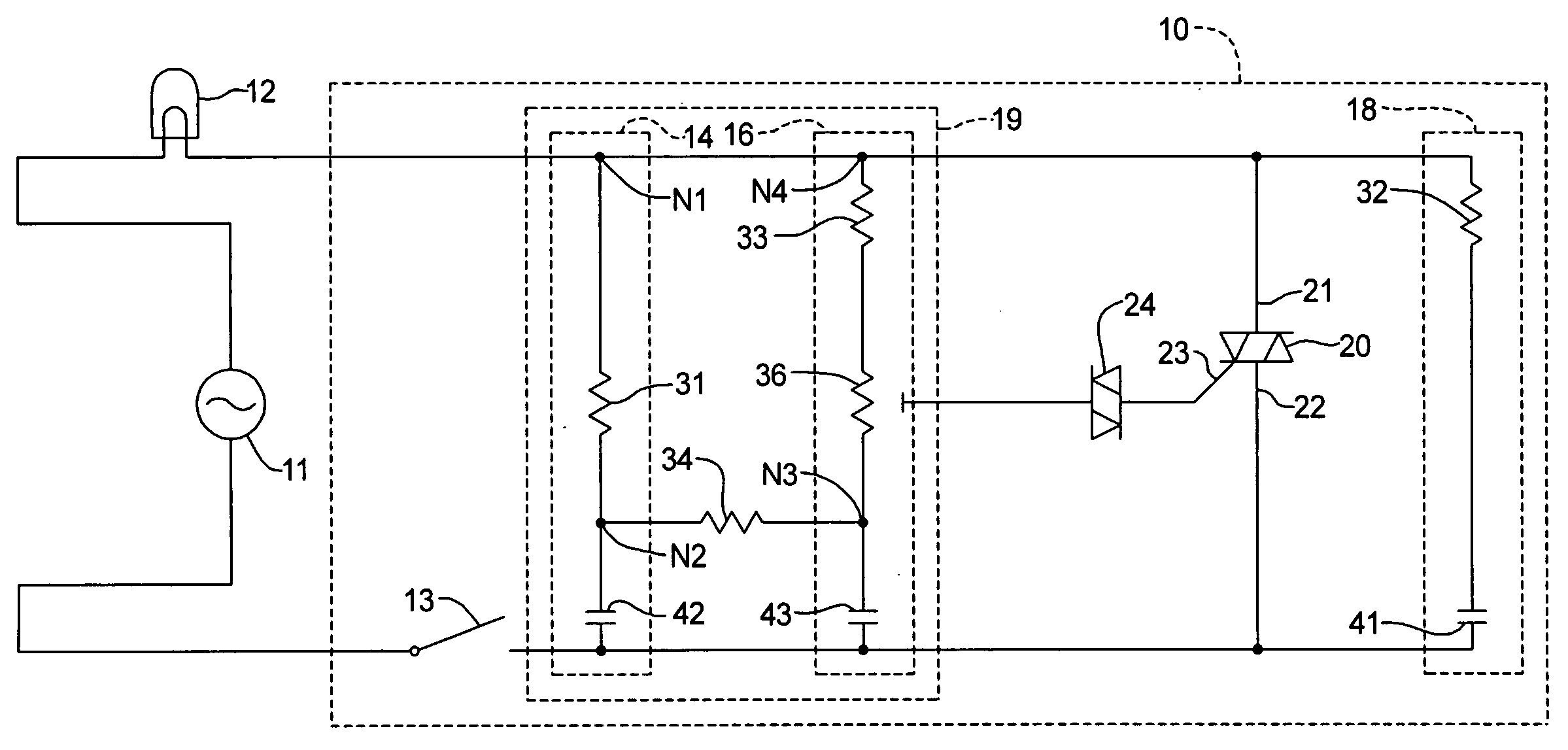 Patent Us20080224624 Dimmer Switch Assembly Google Patents Snubber Circuit Triac Drawing