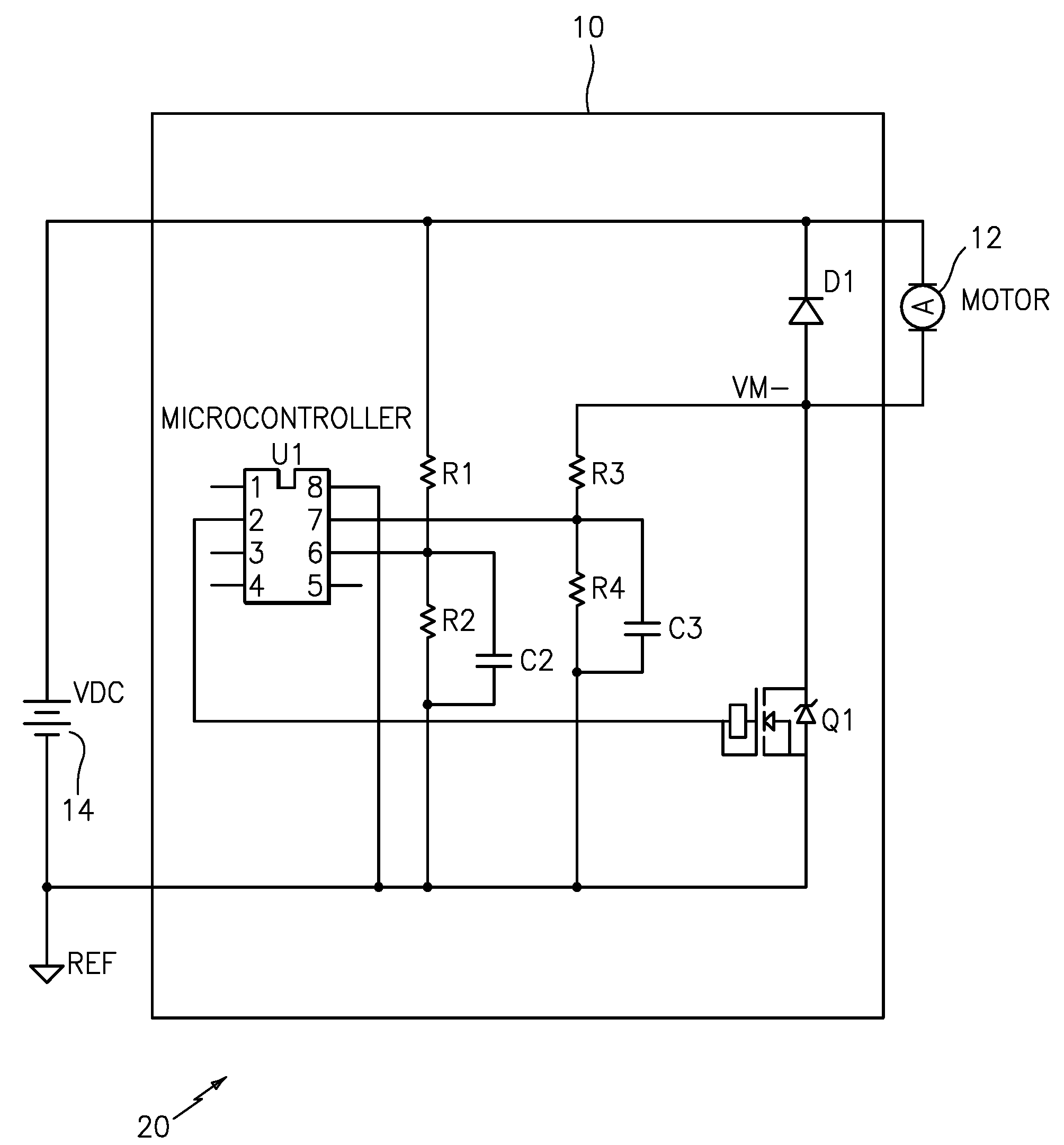 Patent Us20080258663 Brushed Motor Controller Using Back Emf For Brushless Dc Moreover Schematic Drawing