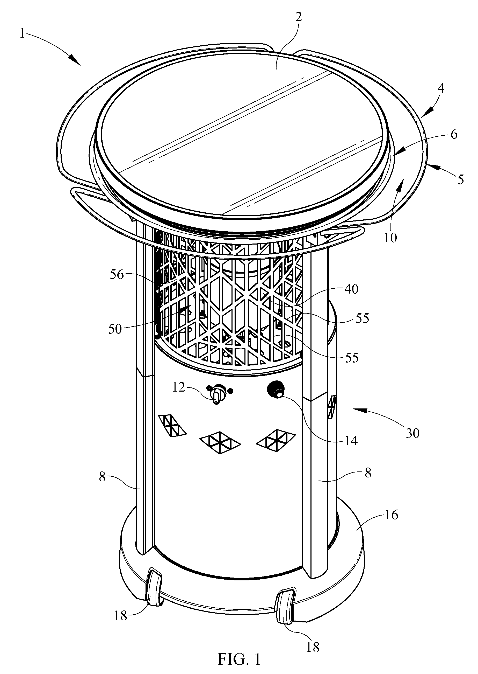 Patent us20080272108 bistro table heater combination for 12 in 1 combination table