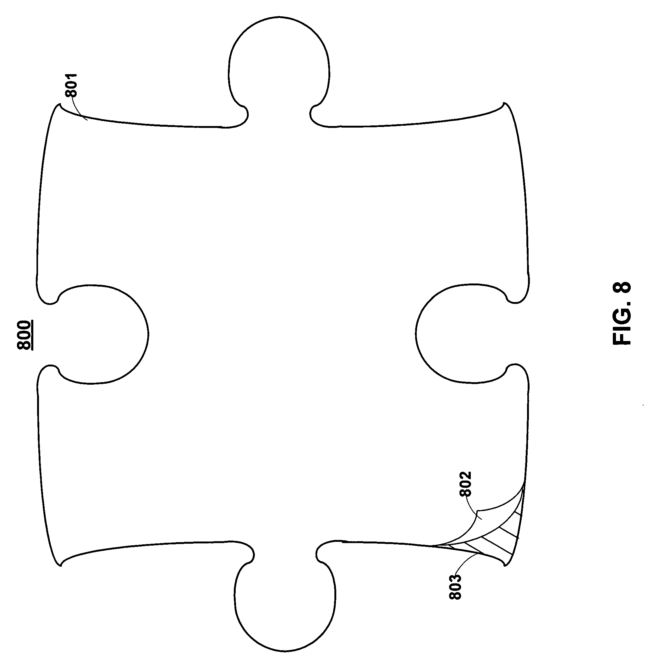 Patent us20080274779 universal puzzle piece with for Large blank puzzle pieces template