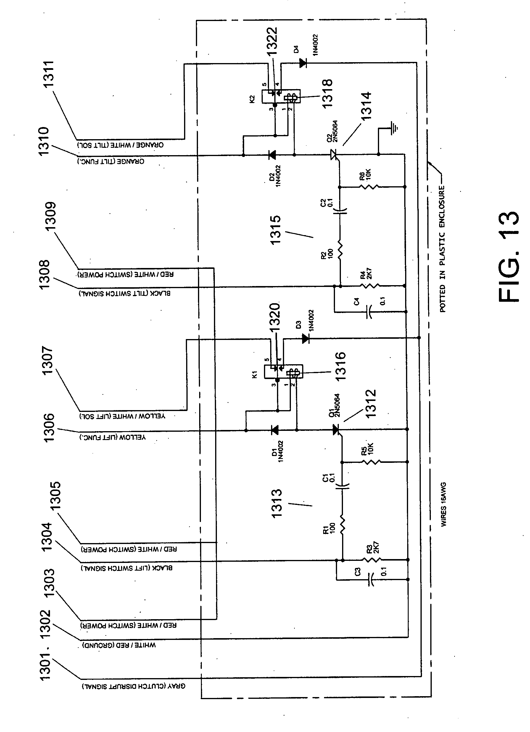 wire diagram 7 wire pigtail patent us20080279667 - tow truck with underlift control ...