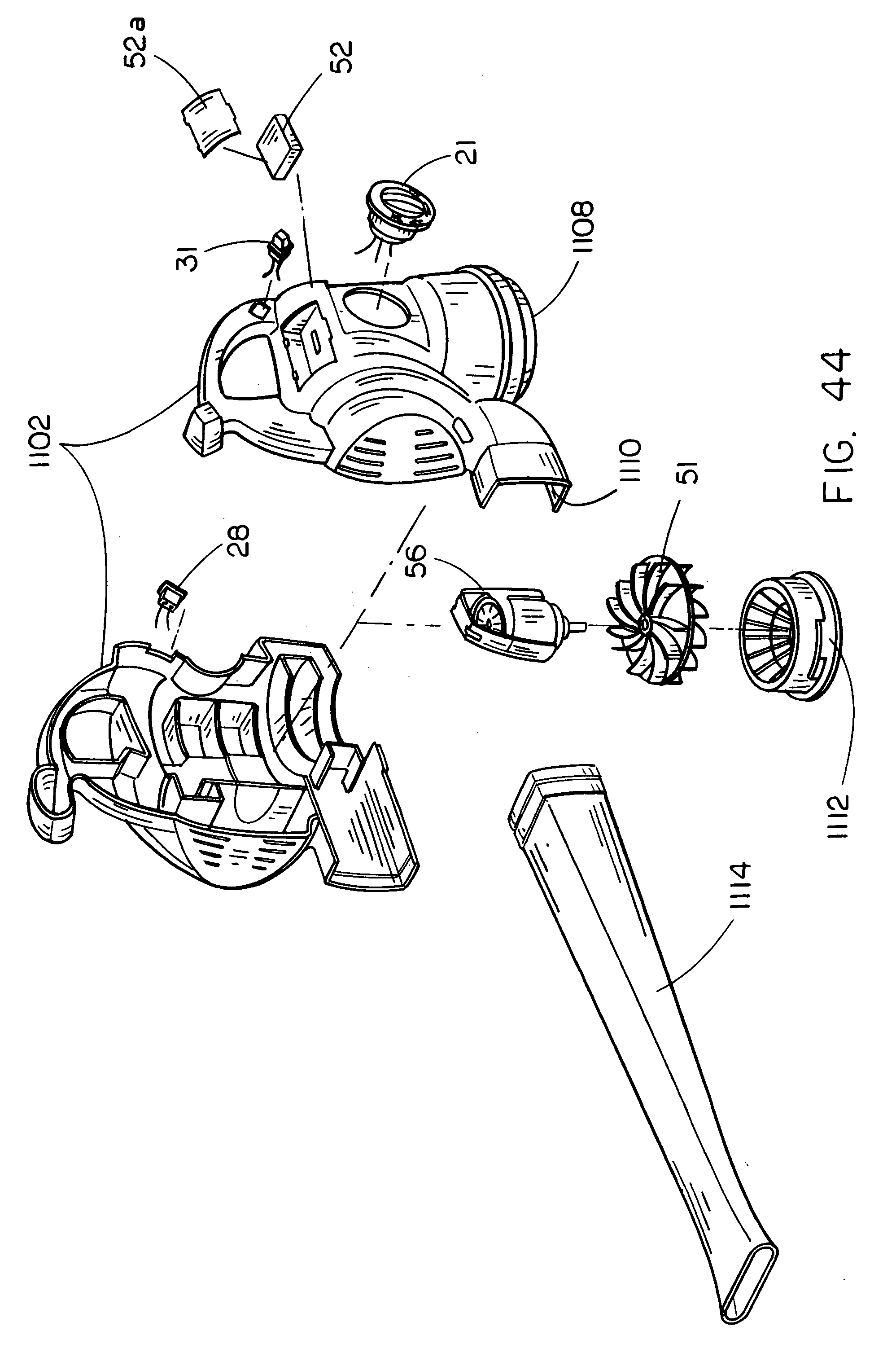 patent us20080284363 hybrid electric cleaning device patents 18V DC Motor patent drawing