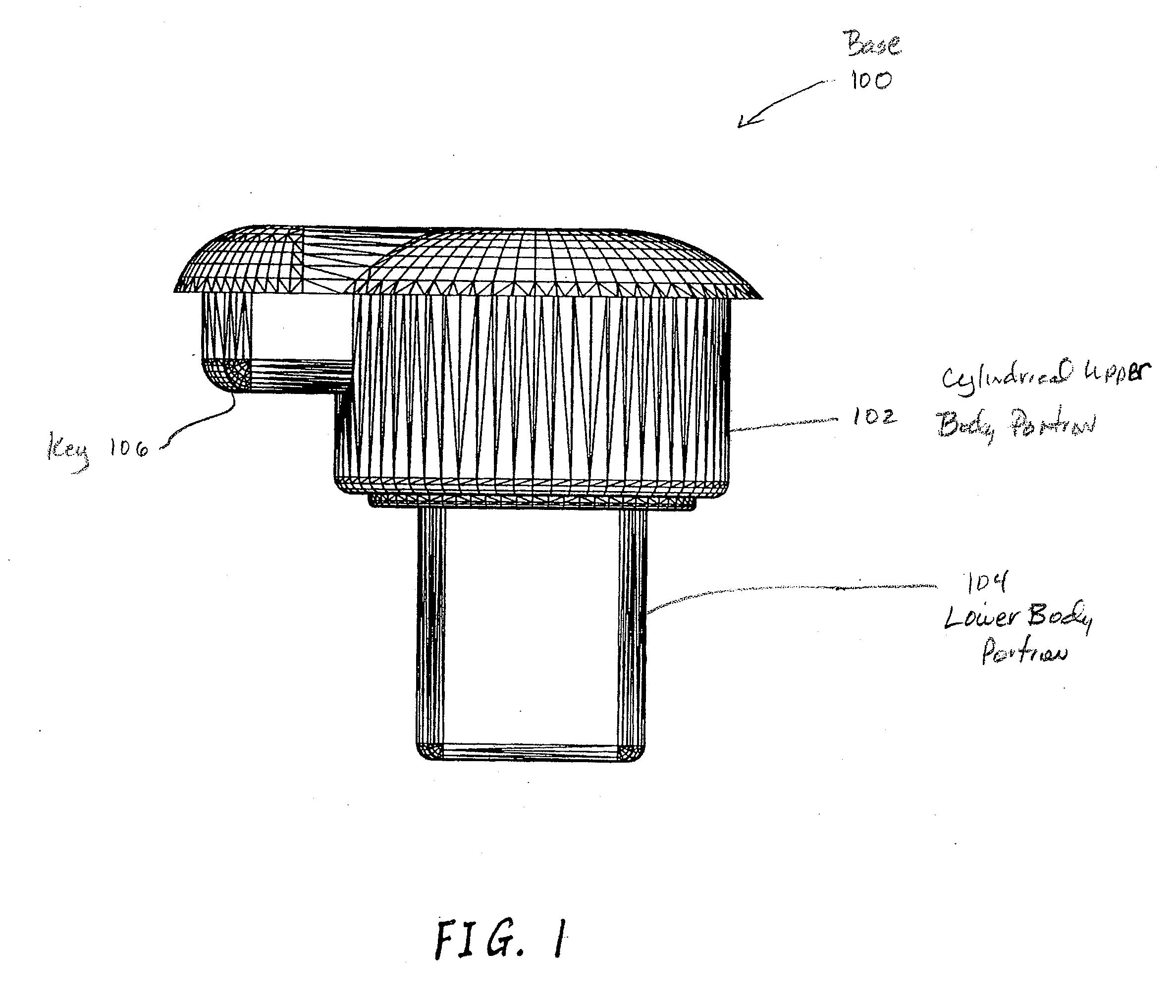 patent us20090027903 - removable led lamp holder