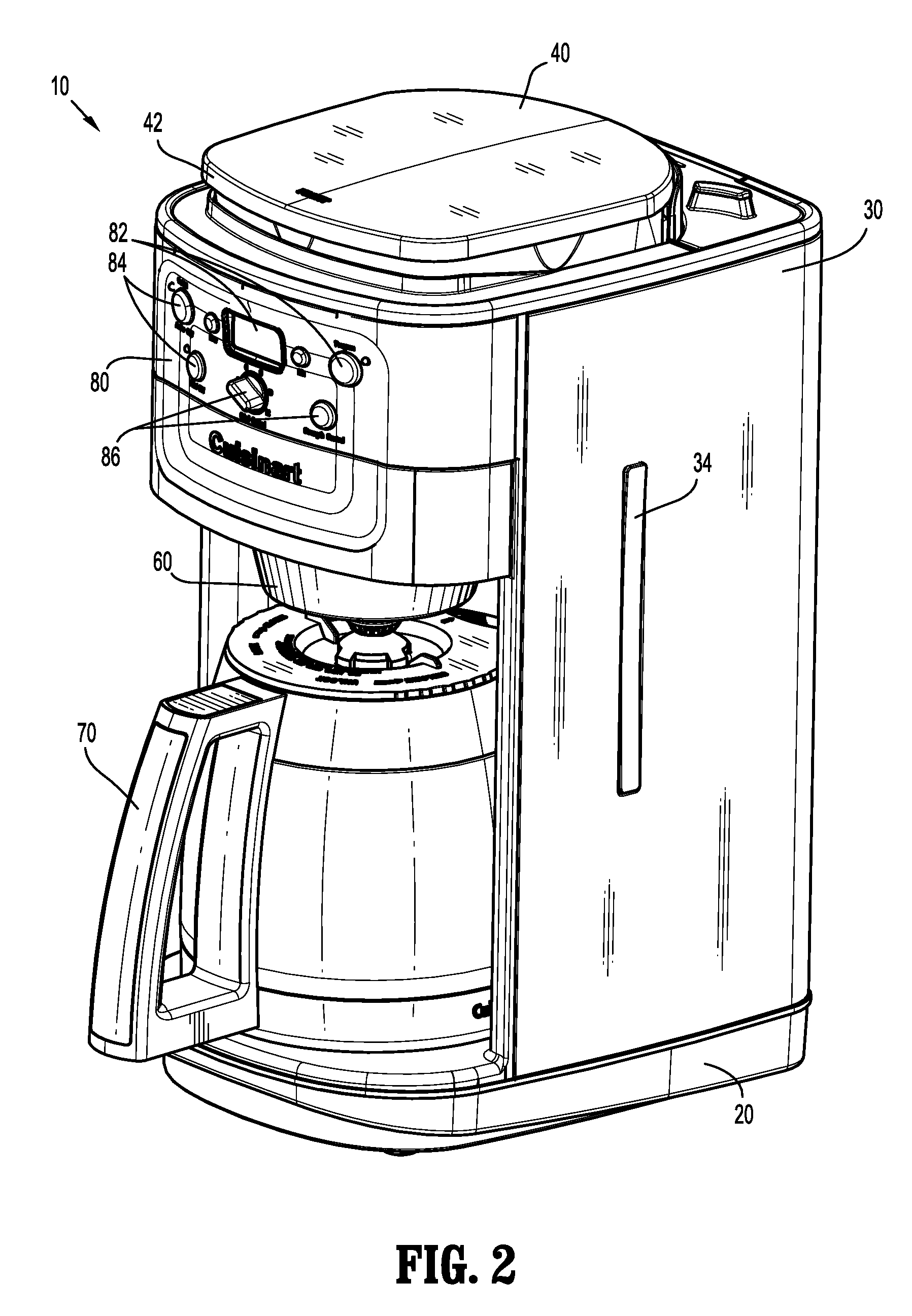 Coffee Maker Drawing ~ Patent us  coffee maker google patentsuche