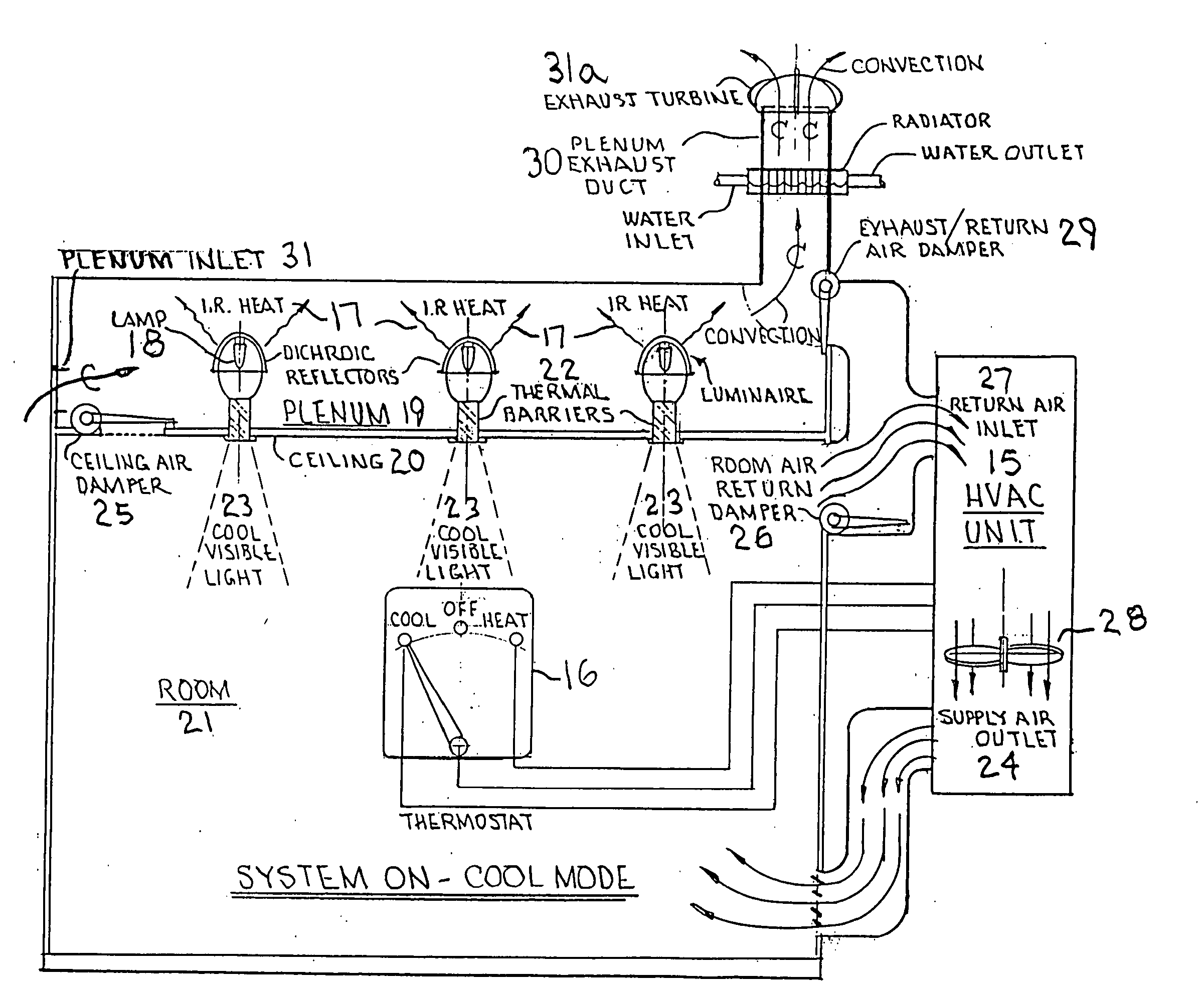 Patent Us20090032604 Energy Saving Integrated Lighting And Hvac Duct Drawing