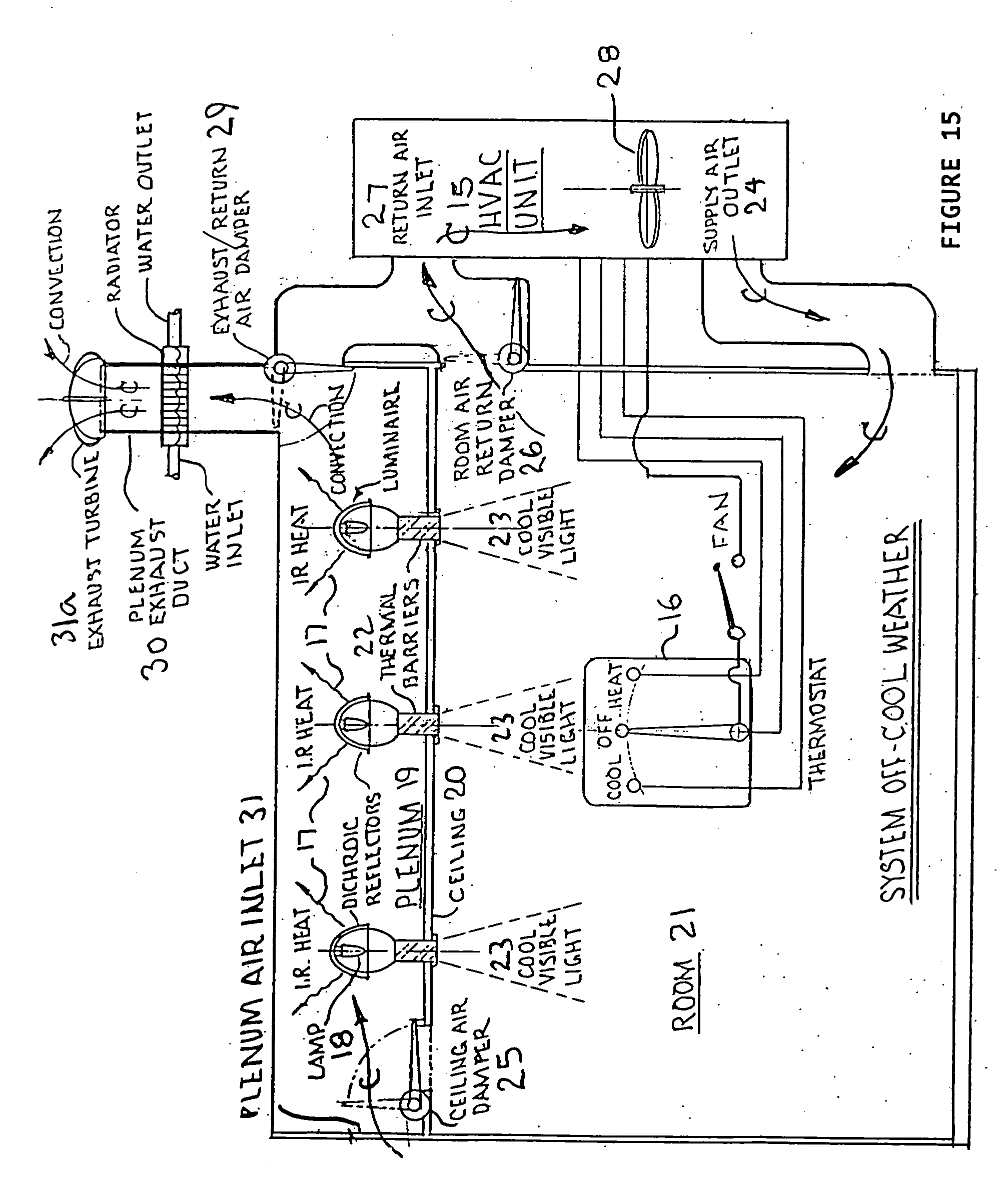 Patent Us20090032604 Energy Saving Integrated Lighting And Hvac Drawing For