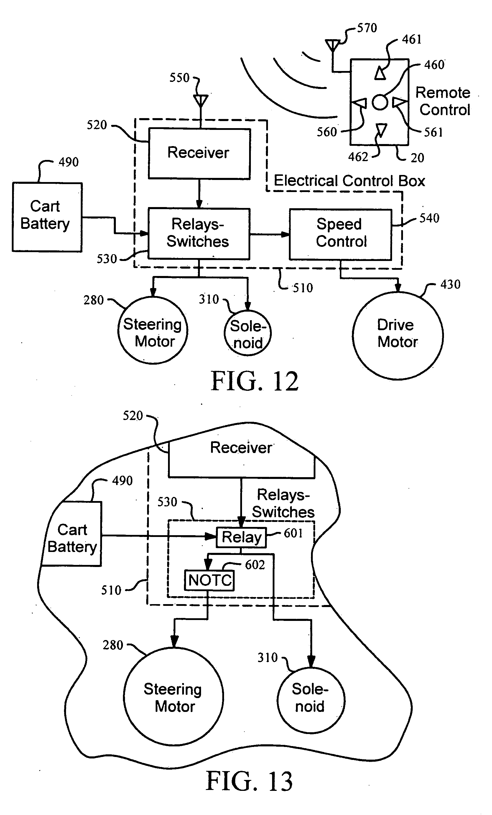 patent us20090038864 remotely controllable golf cart and method for steering a cart