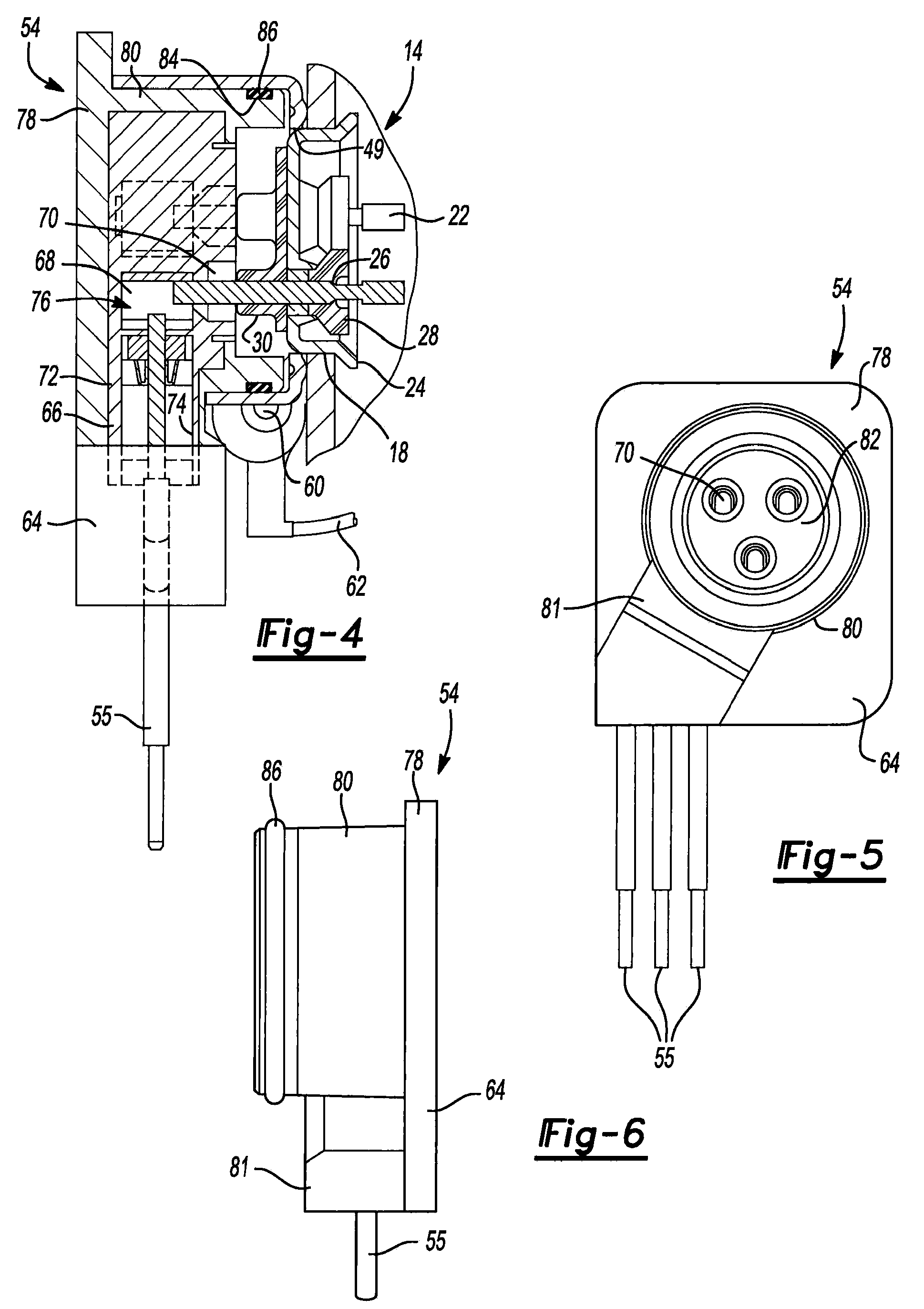 Patent Us20090060749 Molded Plug For A Compressor Google Patents 1981 Vanagon Engine Cooling Diagram Drawing
