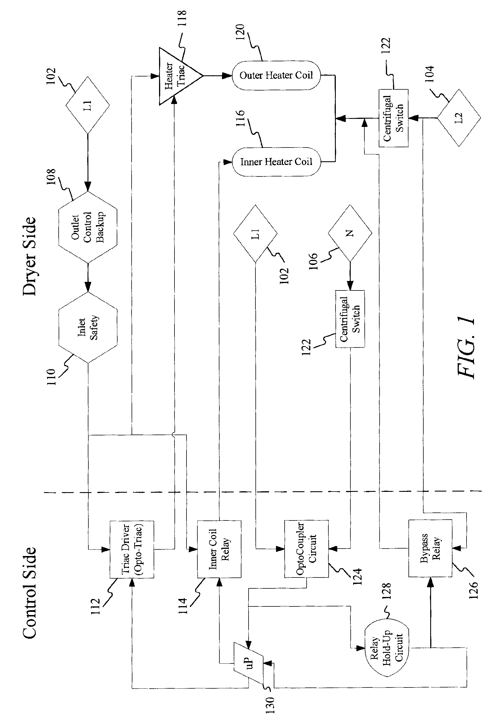 Patent Us20090064532 Centrifugal Switch Bypass For Reverse Tumble Way Wiring Additionally Single Pole Double Throw Diagram Drawing