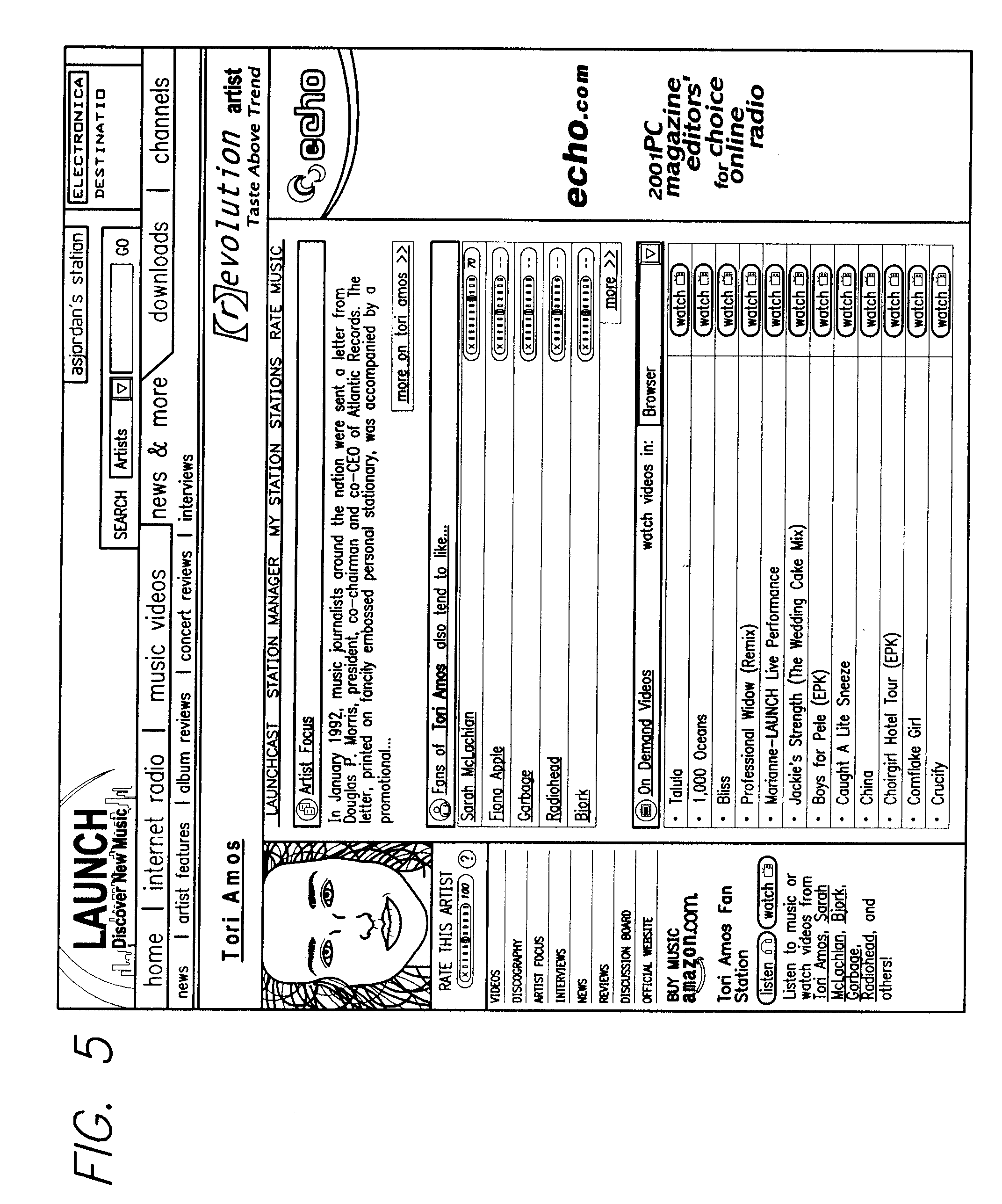 Patent US20090083435 - Online playback system with community