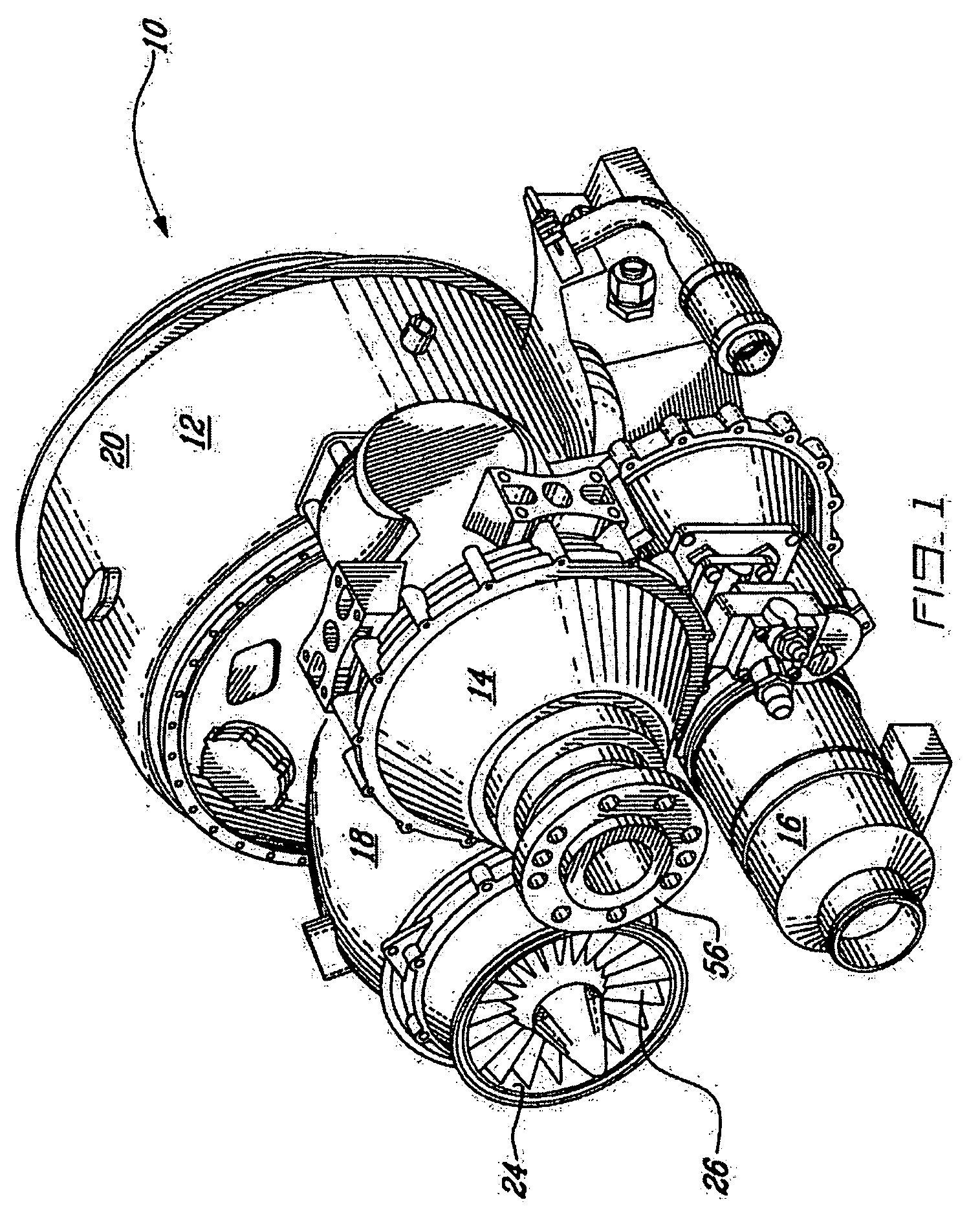 Patent US fset drive for gas turbine engine
