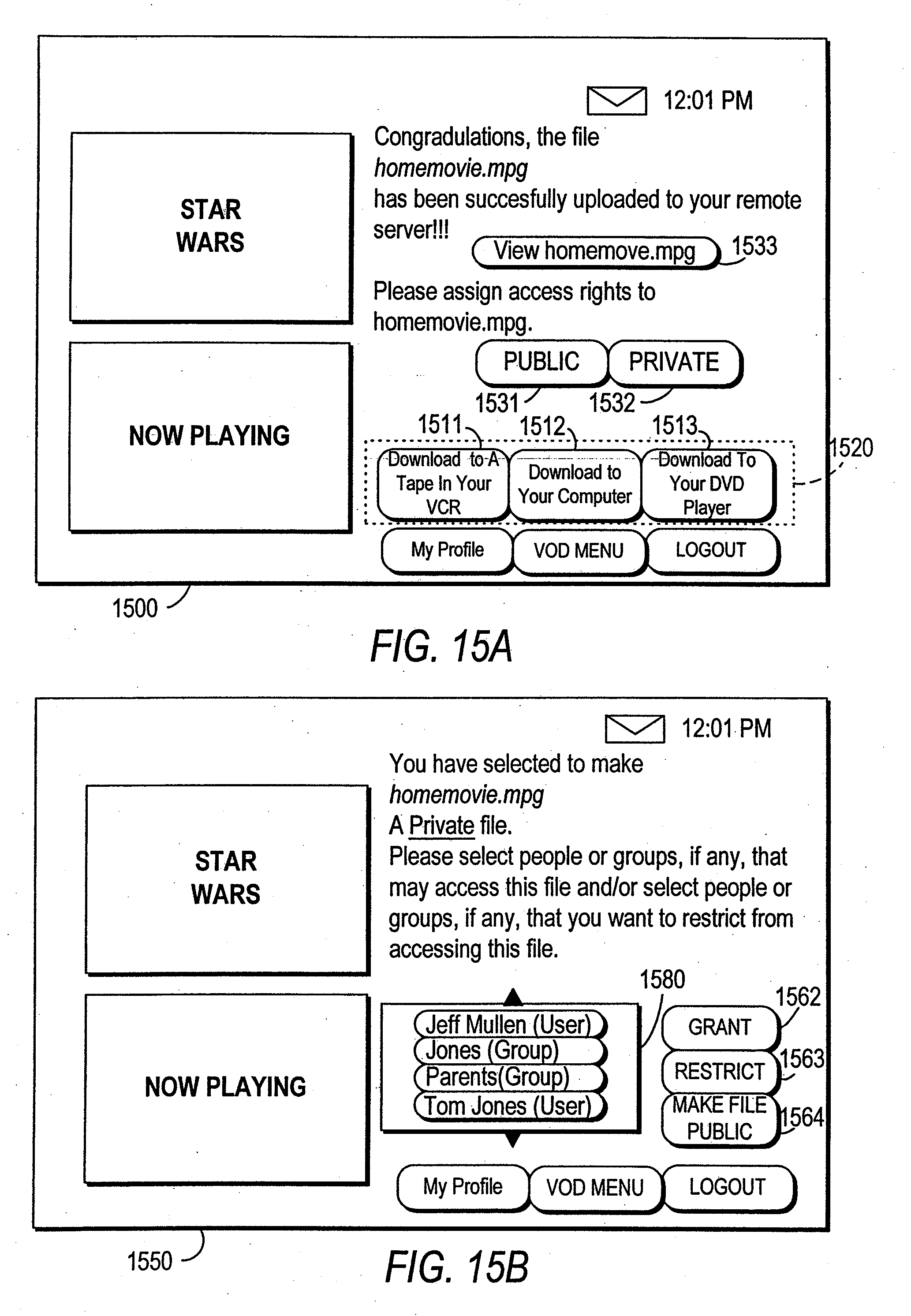 US20090138922A1 - Systems and methods for providing storage of data ...