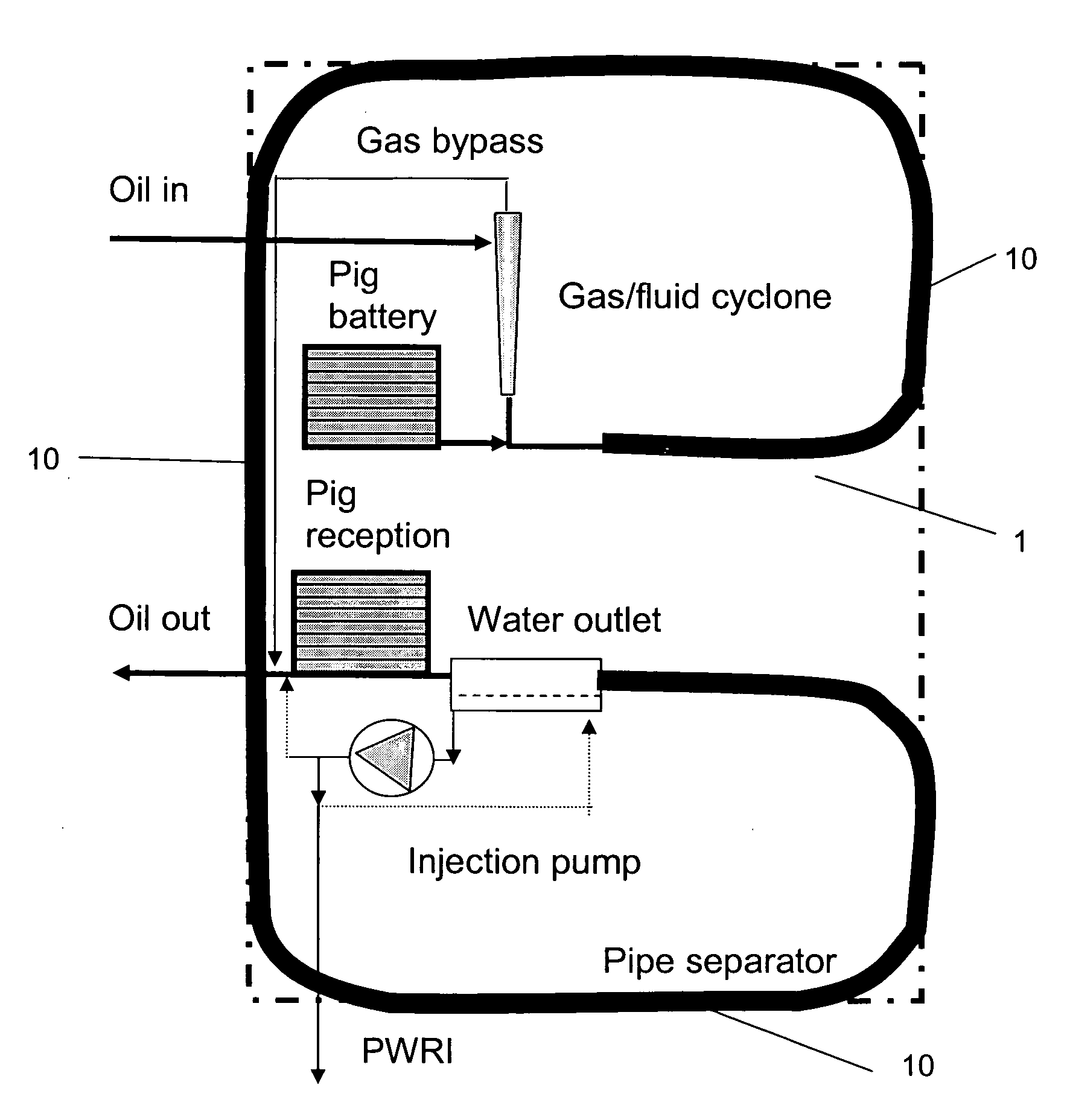 patent us20090145832 - pipe separator