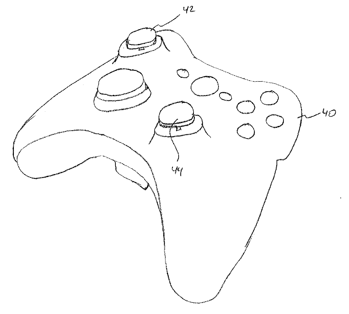 Sketch Drawings Of Xbox Controllers Coloring Pages