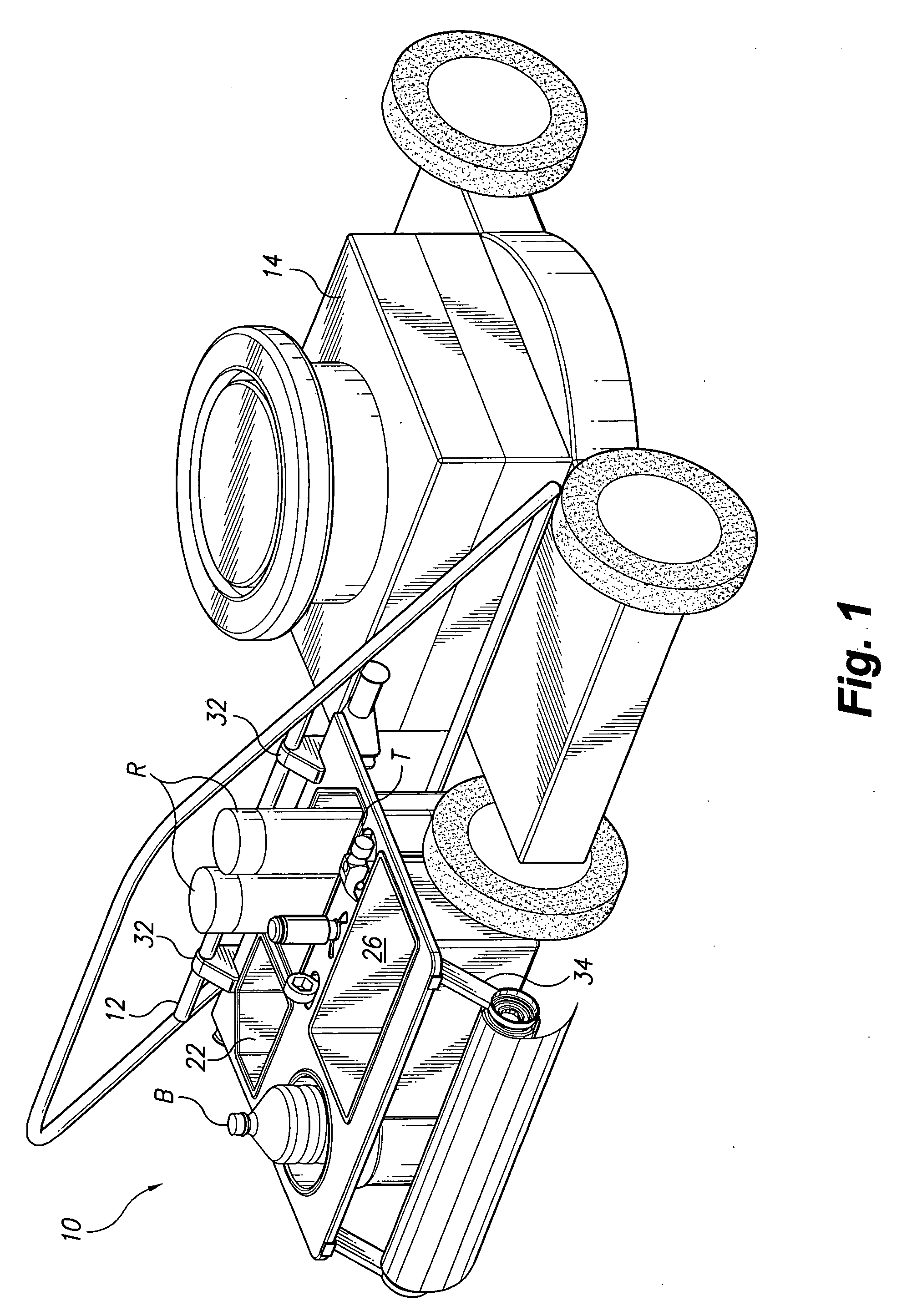 Patent Us20090266856 Lawn Mower Caddy Google Patents 1990 Jeep Wrangler Fuel System Wiring Diagram Drawing