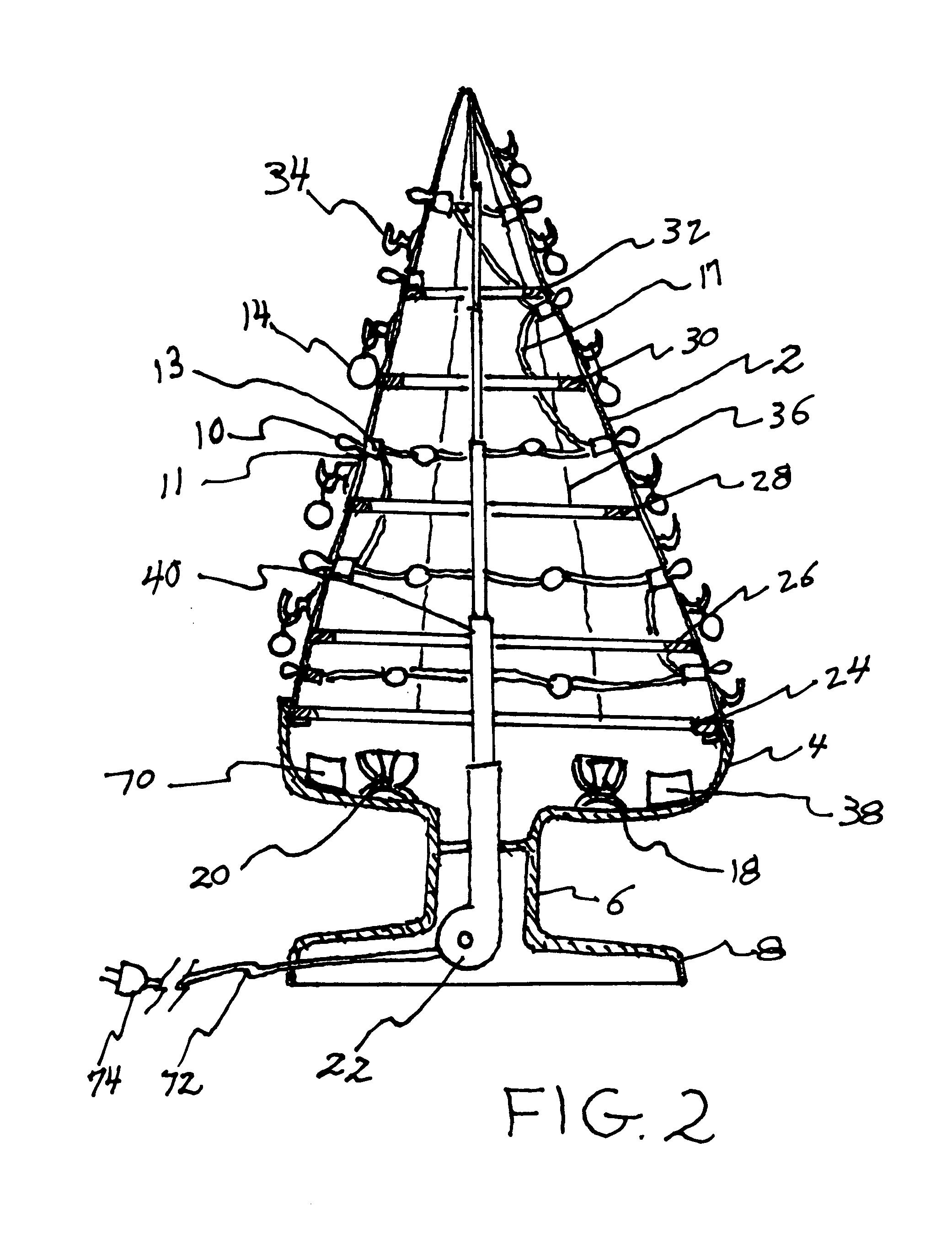 patent us20090289560 - pop-up christmas tree