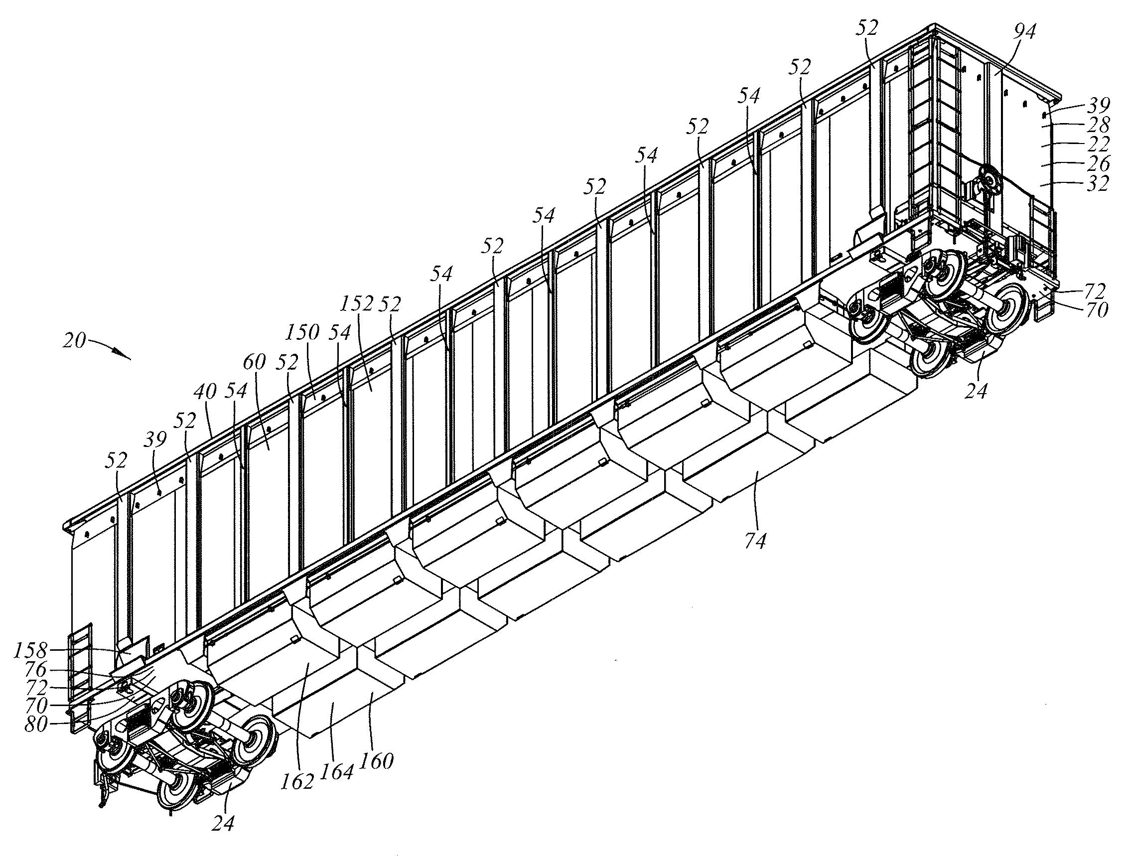 diagram of gondola patent us20100011987 - railroad gondola car structure ...