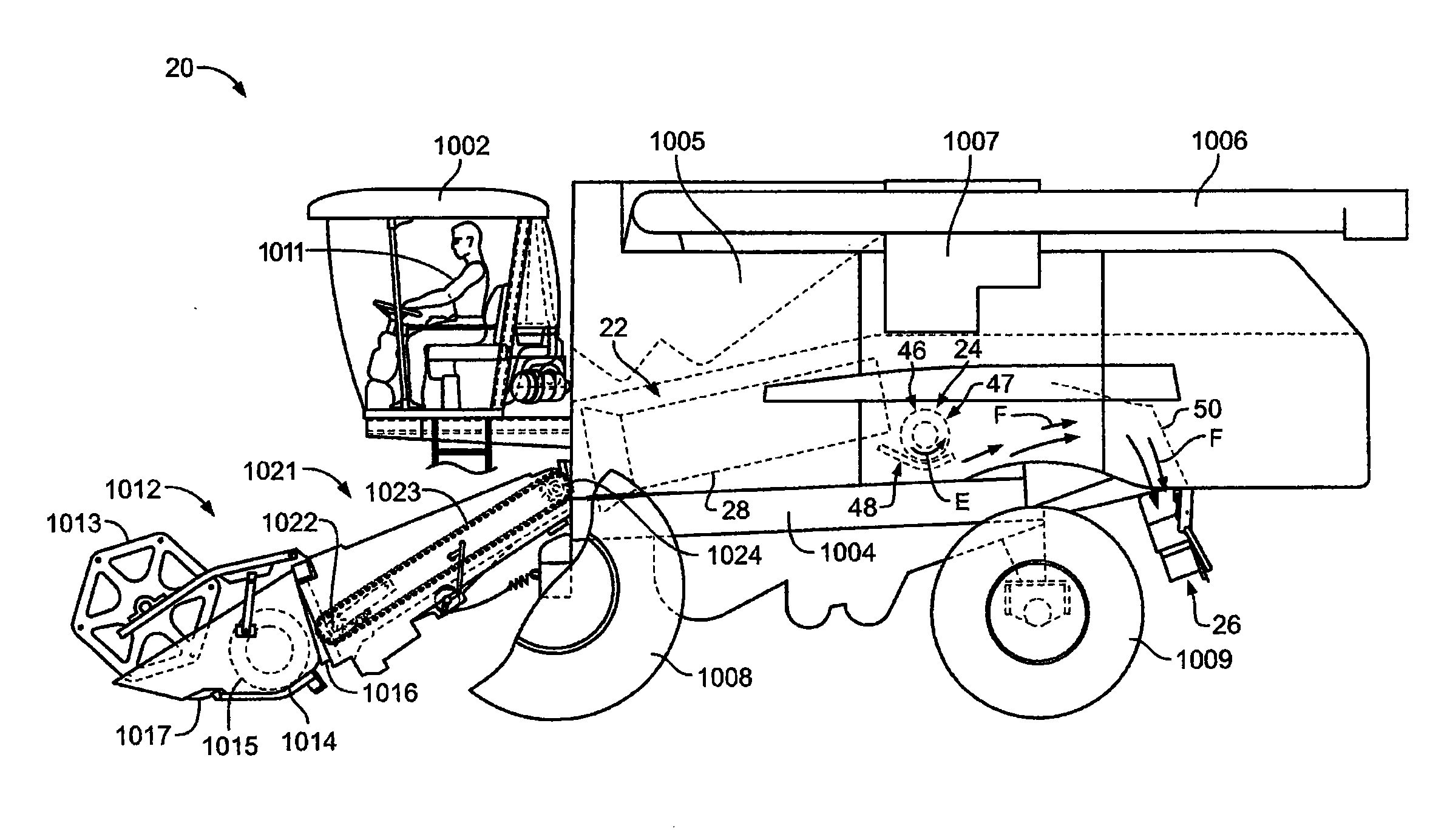 Schematic Diagram Of Combine Harvester : Patent us  foreign object detection and