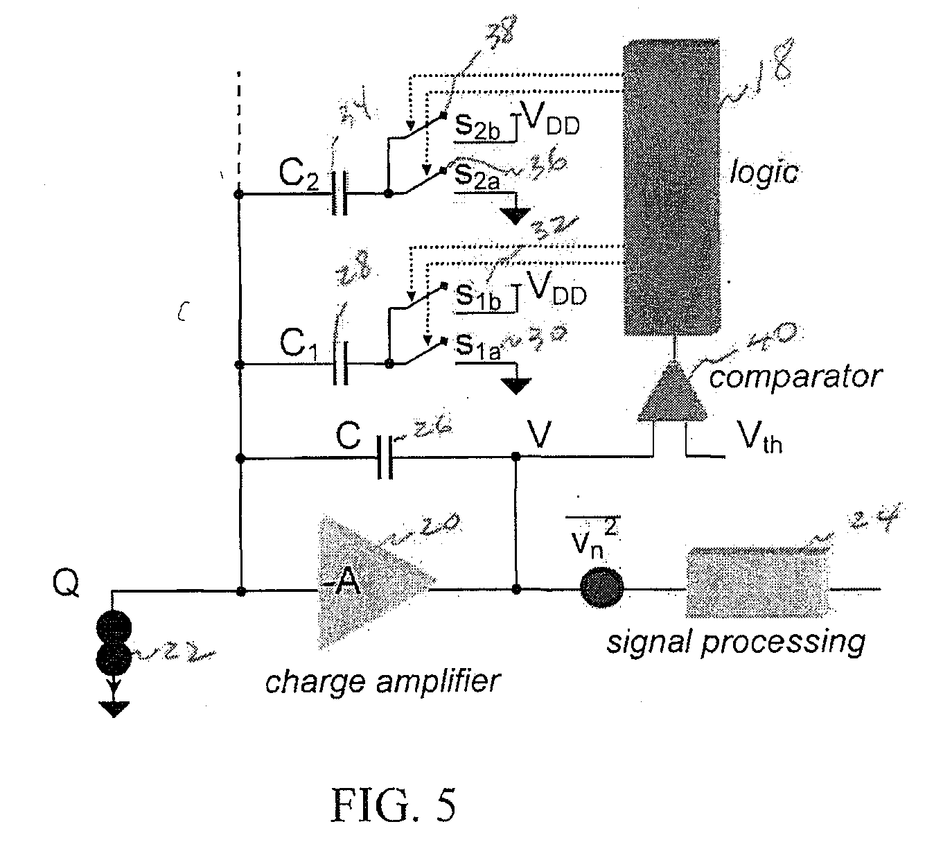 Us20100049459 High Dynamic Range Charge Amplifier Circuit Patent Drawing