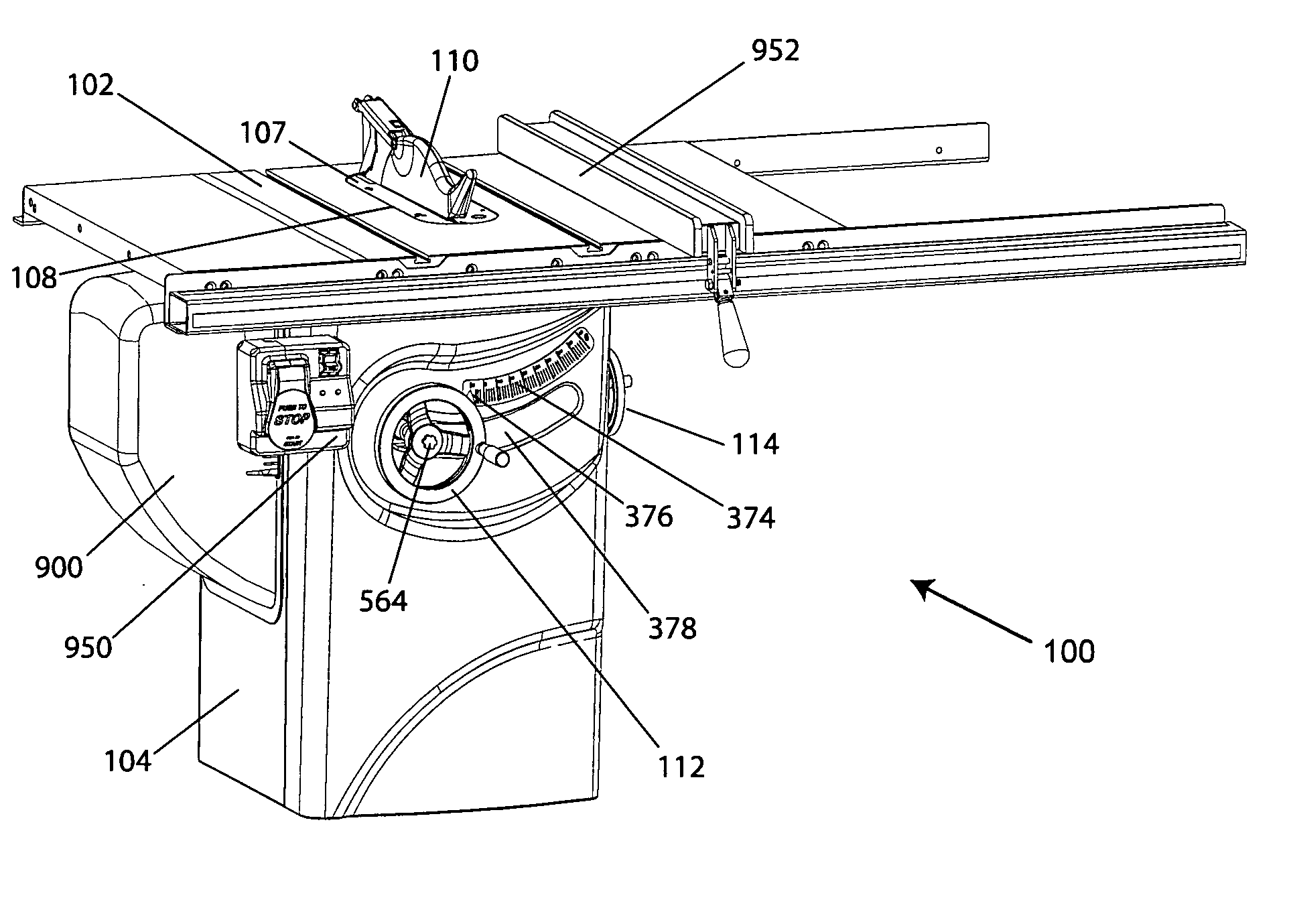 patent us20100050843 - table saw
