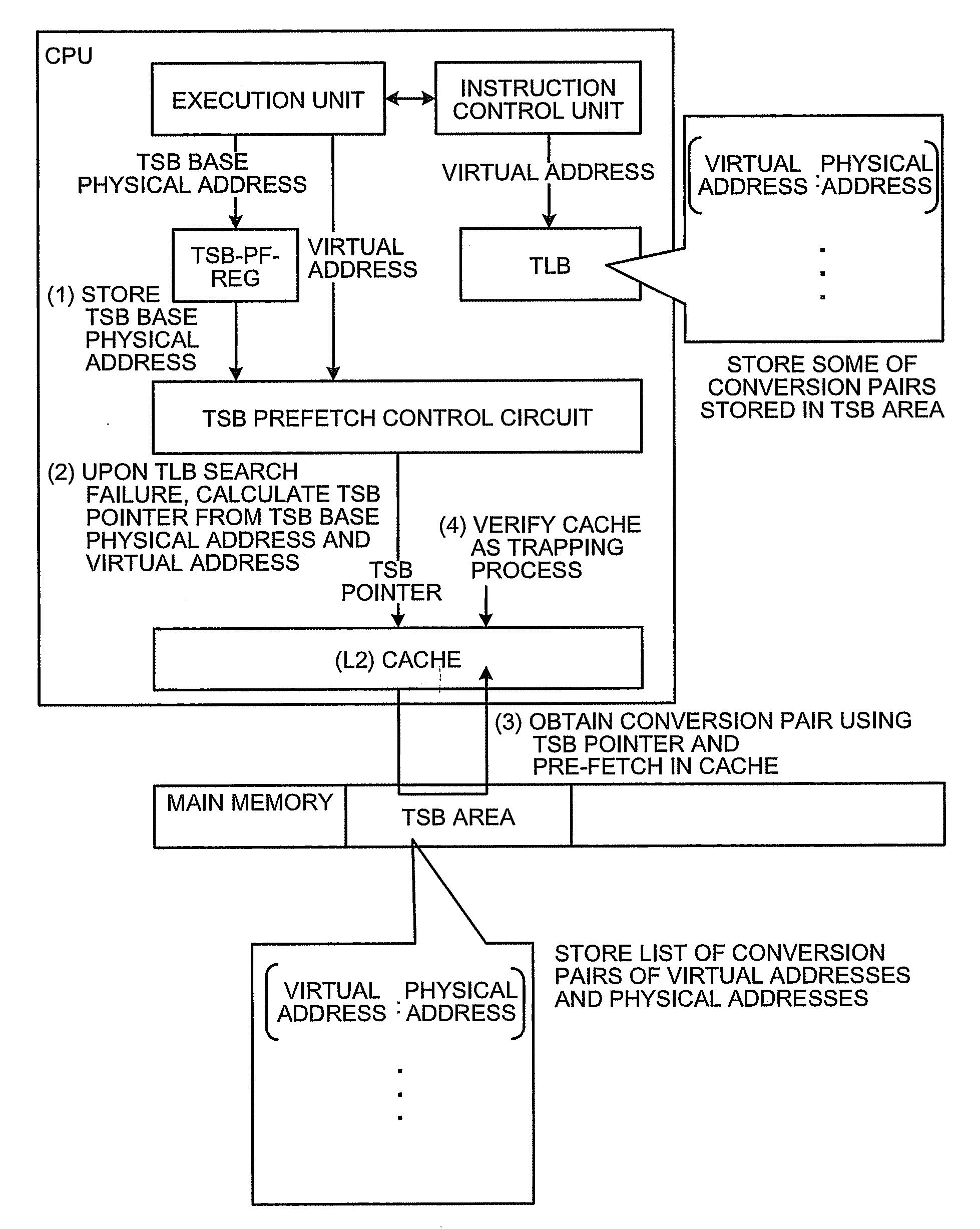 براءة الاختراع US20100070708 - Arithmetic processing apparatus and
