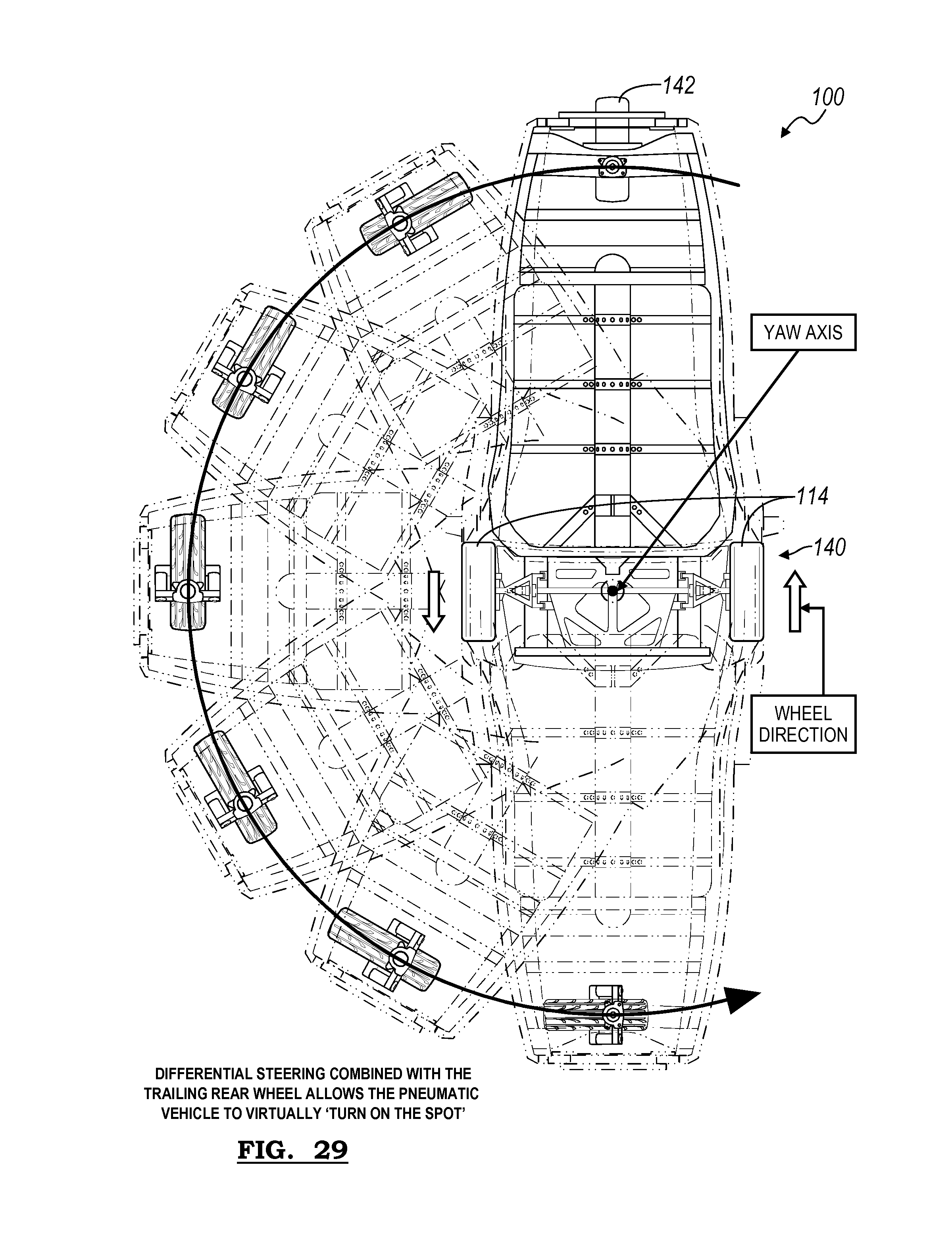 patente us20100078245 chassis for pneumatic vehicle 292 Y-Block Carb patent drawing