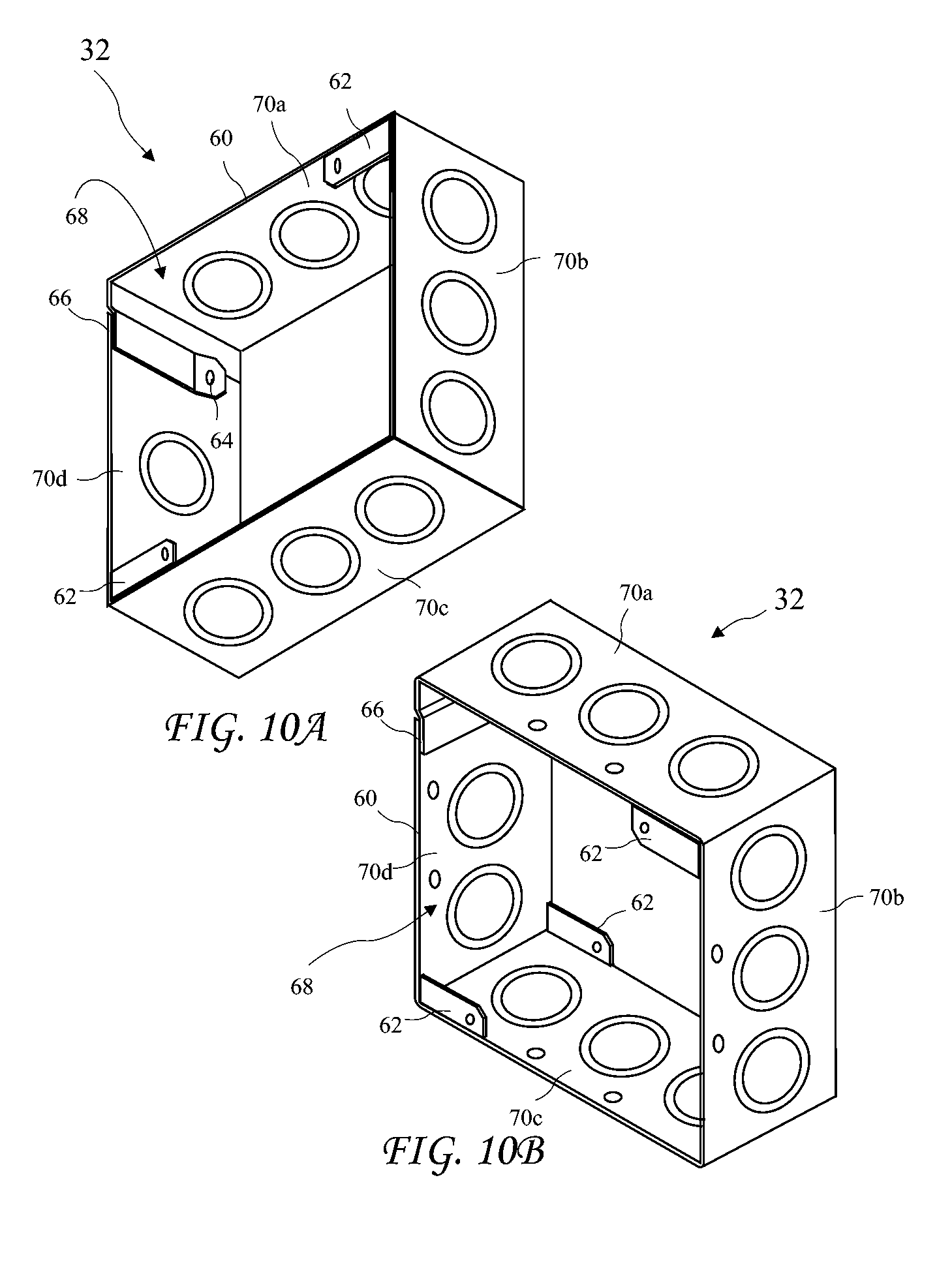 Patent Us20100084184 Open Back Junction Box And Method