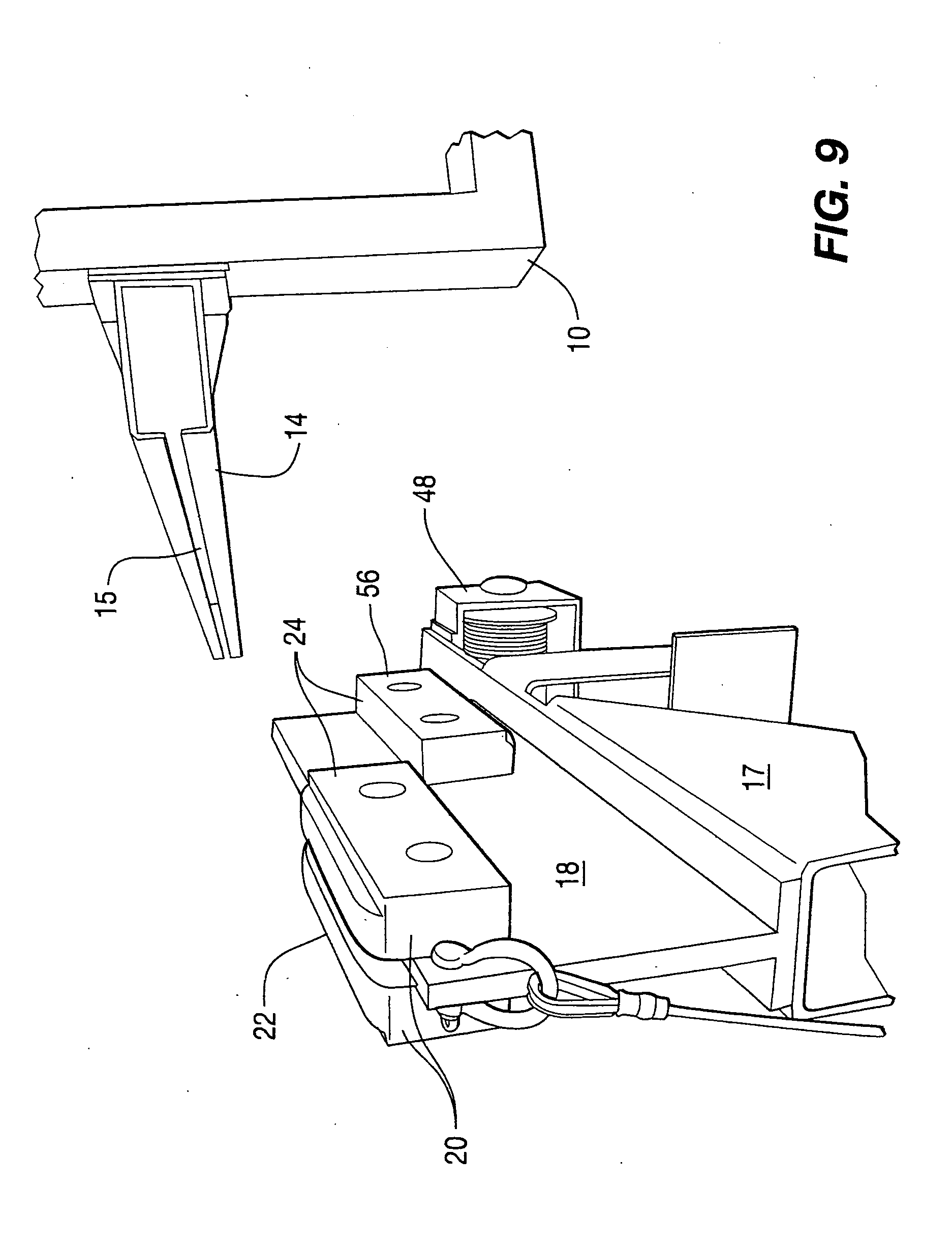 patent us20100104365 rotatable boat lift with sliding pads Hydraulic Valve Schematic Diagram patent drawing