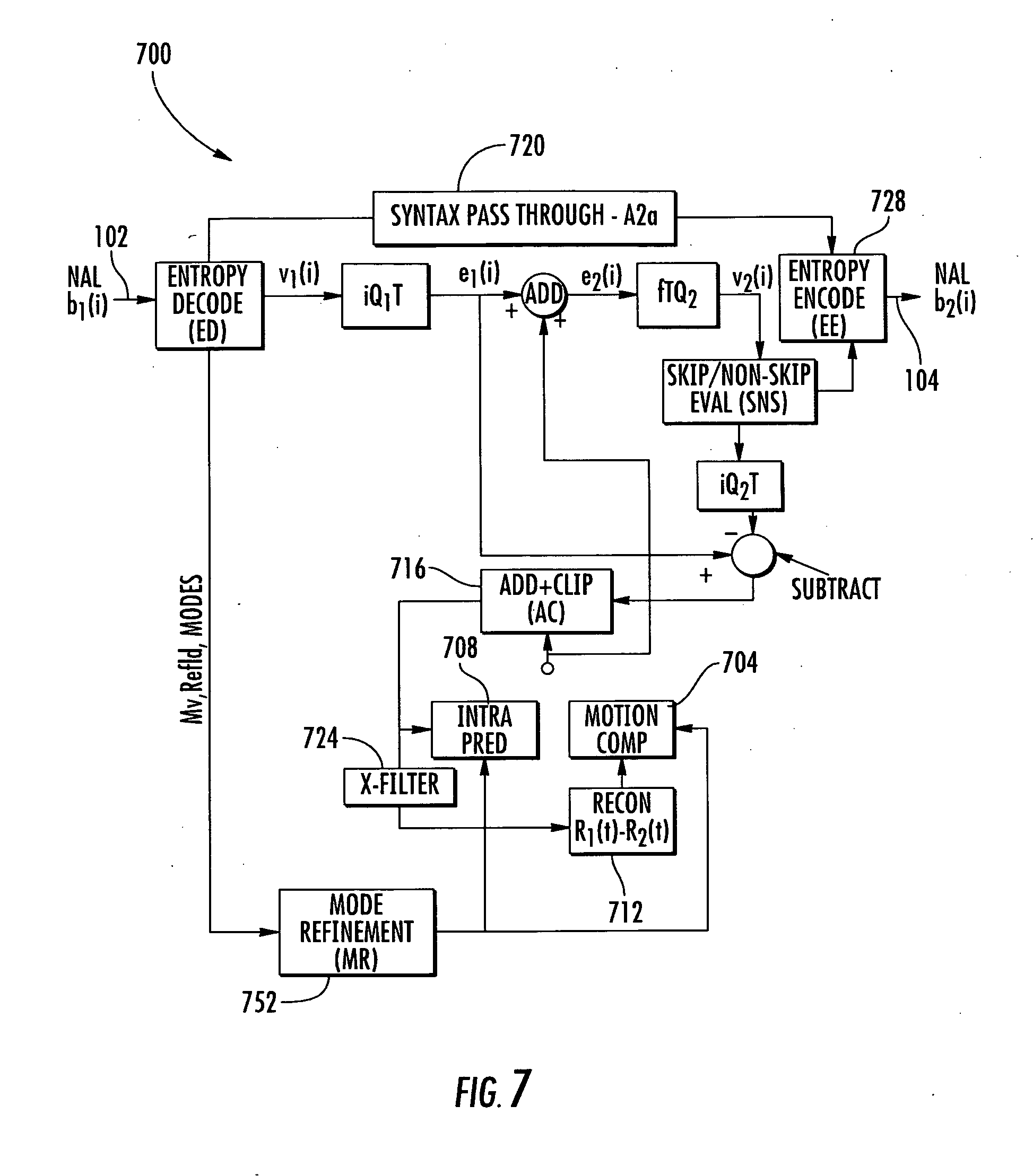 Patent Us20100118982 Method And Apparatus For Transrating H 264 Decoder Block Diagram Drawing