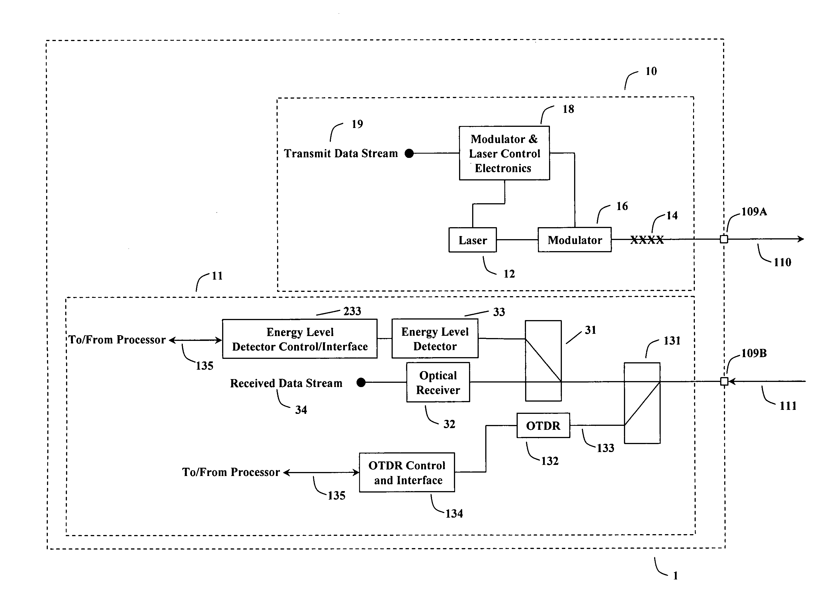 Patent Us20100119225 Fiber Optic Telecommunications Card With Optics And Circuit Board Hd 00 10 Communications Drawing